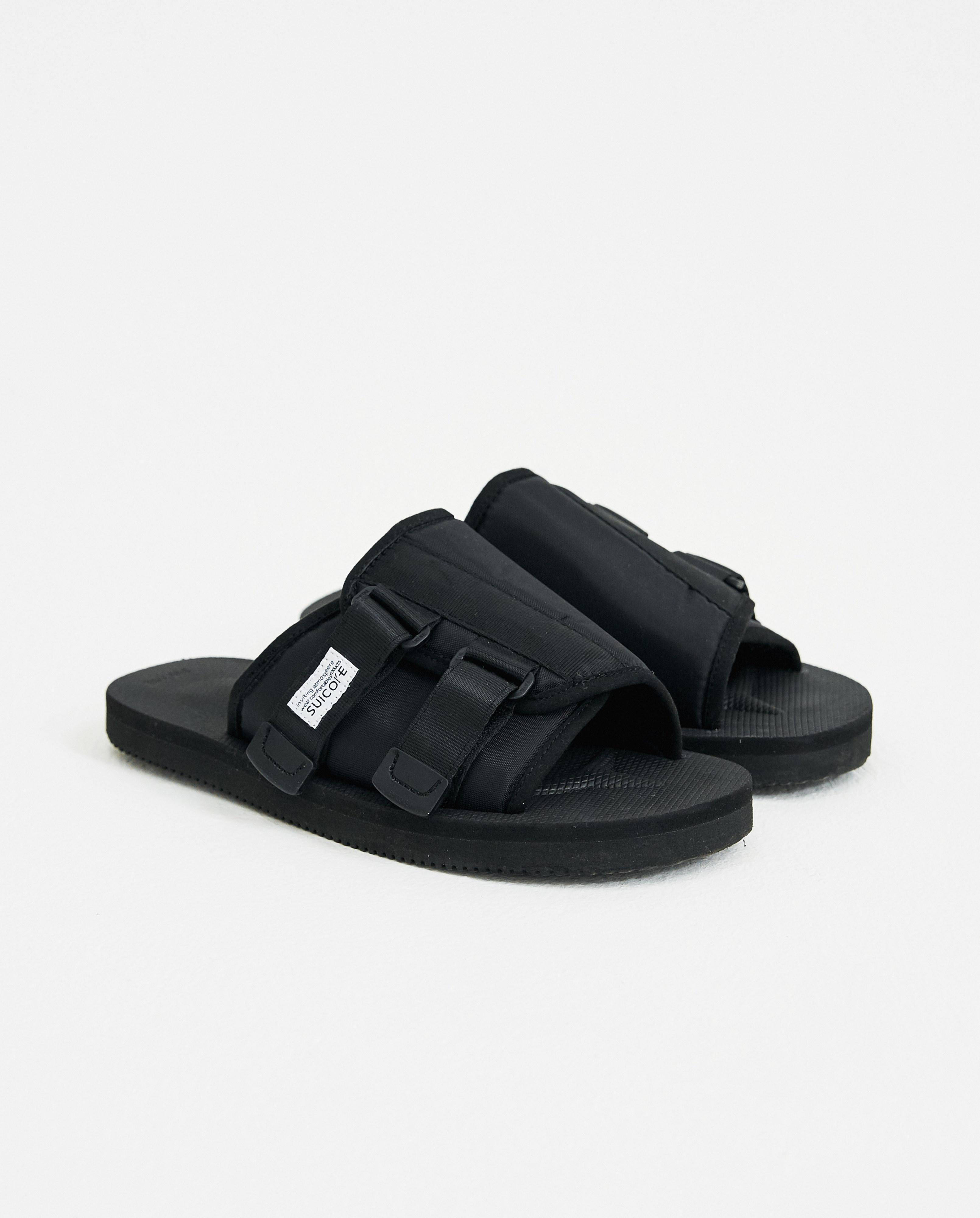 122c08da495 Suicoke Kaw Vs Sandal Slides in Black for Men - Lyst
