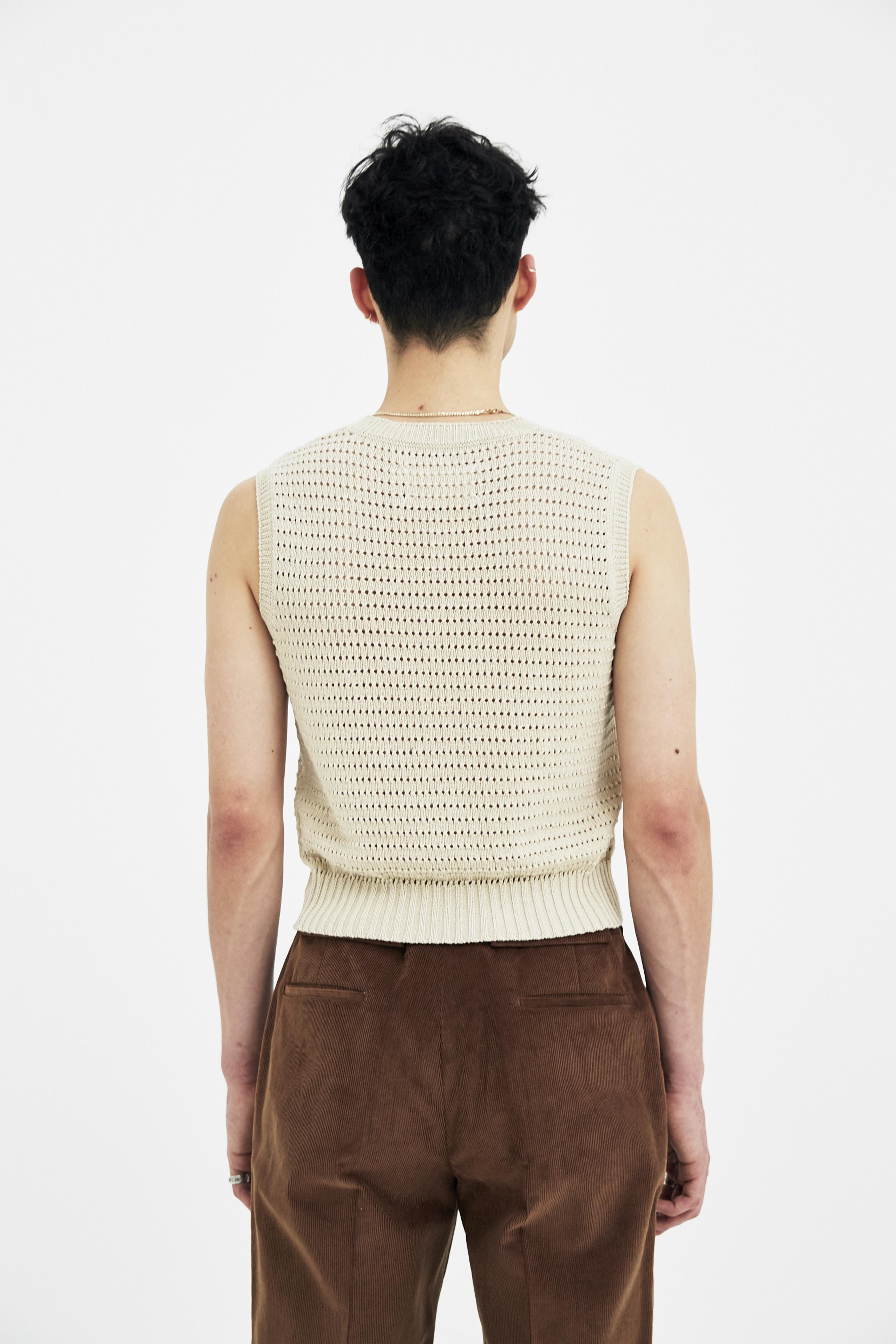 Maison margiela Light Beige Sweater Vest in Natural for Men | Lyst
