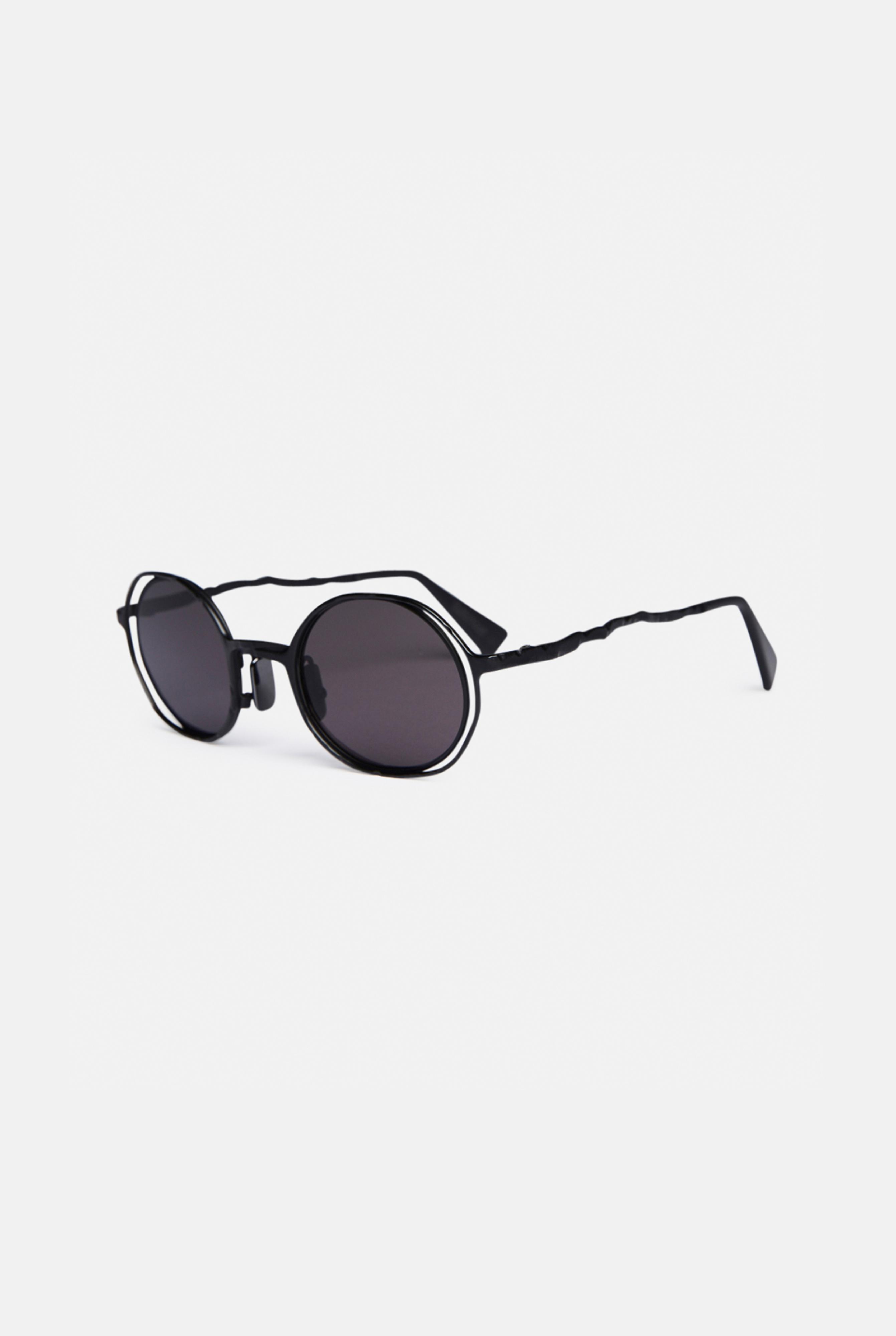 round frame glasses - Black Kuboraum f125D