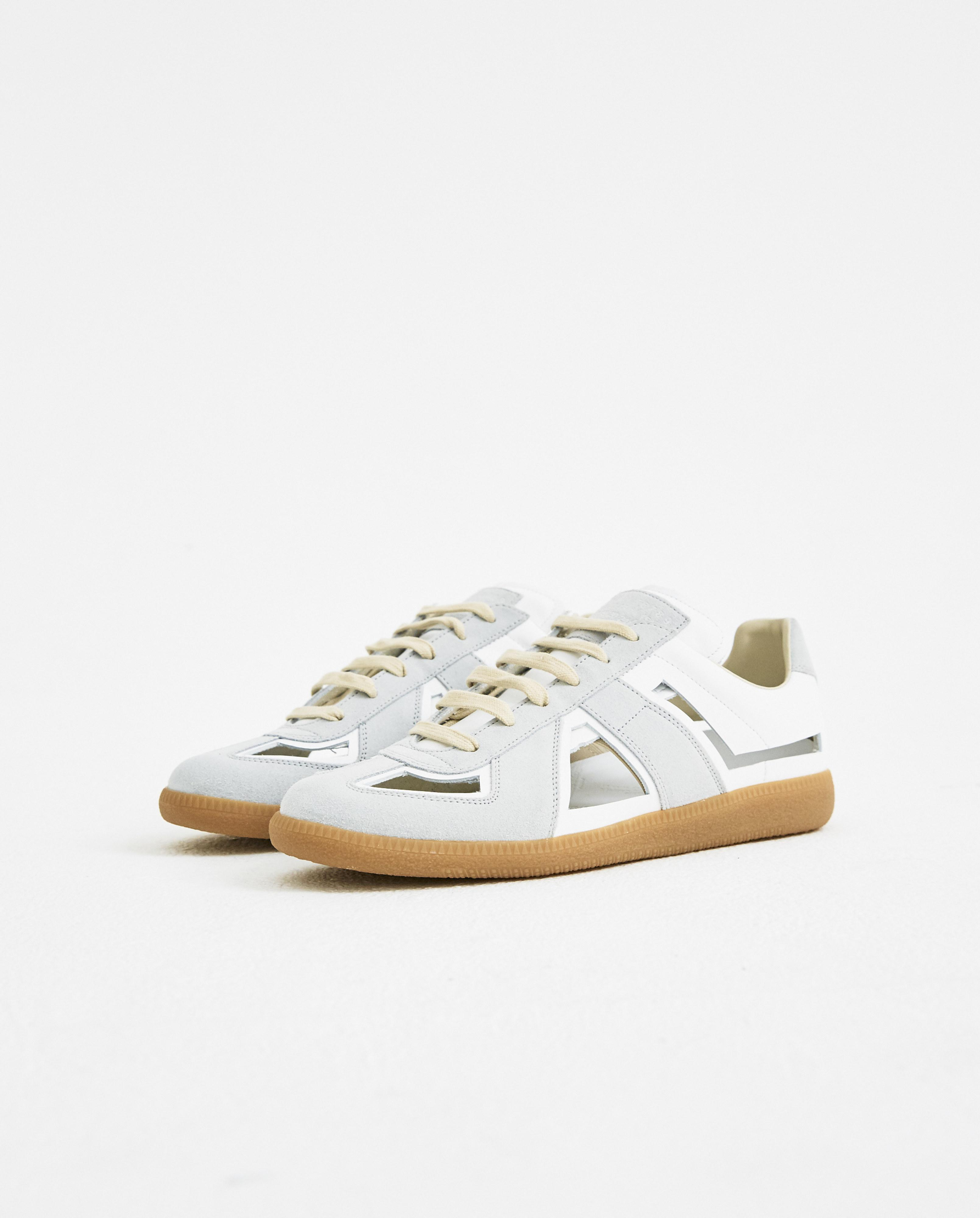 White and Grey Decortique Cut-Out Replica Sneakers Maison Martin Margiela LpNu88eEy
