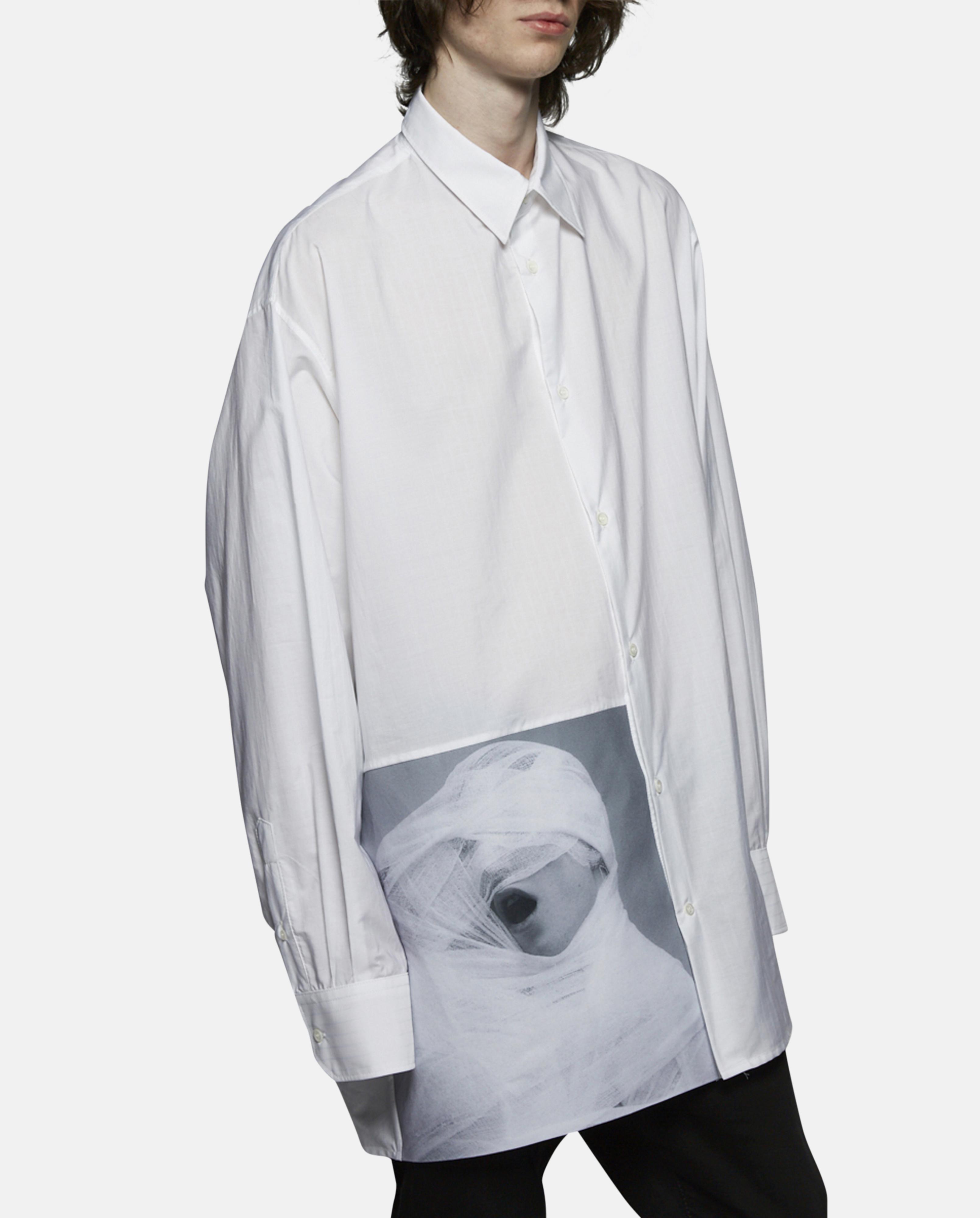 Raf Simons Oversized White Gauze Shirt In White For Men Lyst