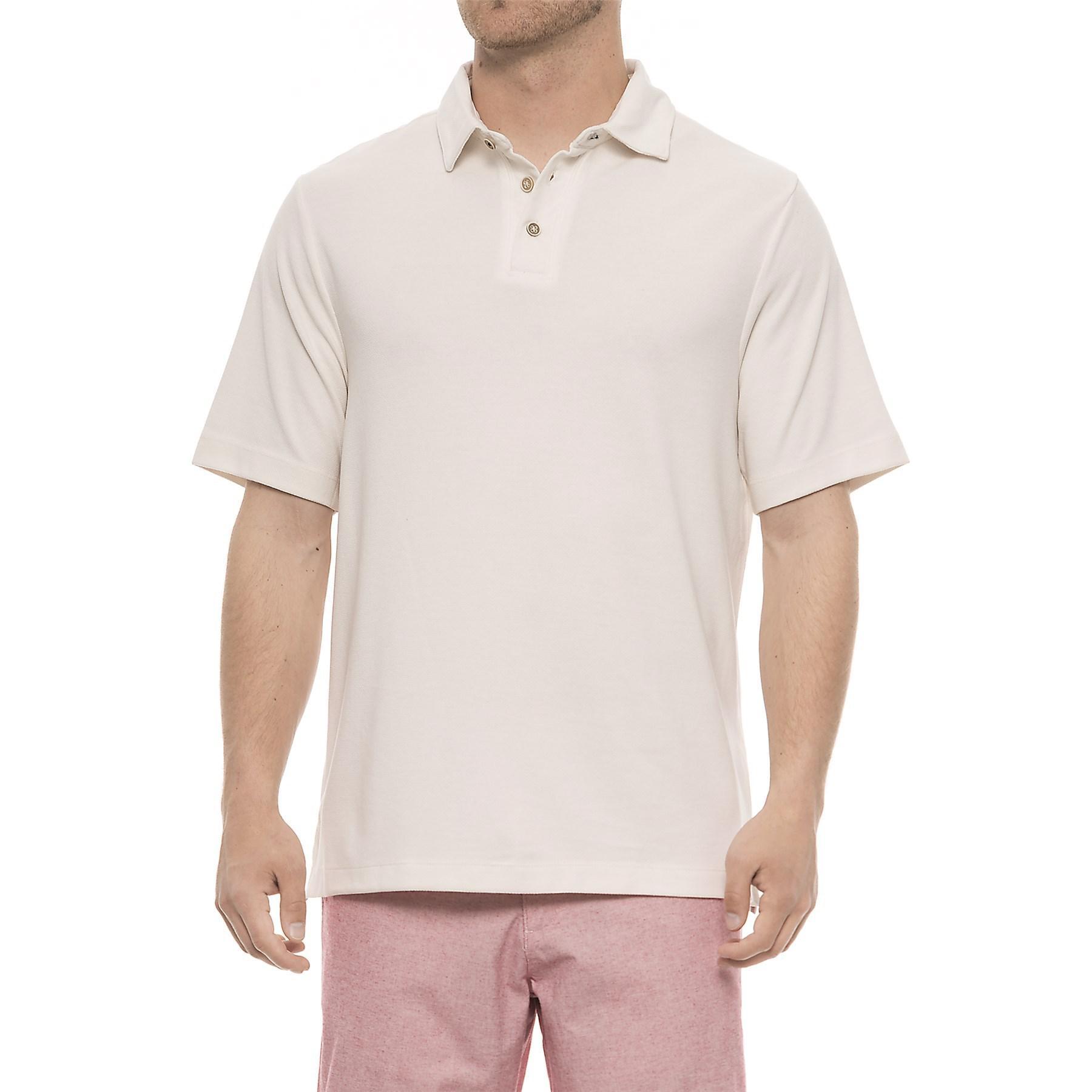 375284ef68b Lyst - Rainforest Modal Polo Shirt in White for Men