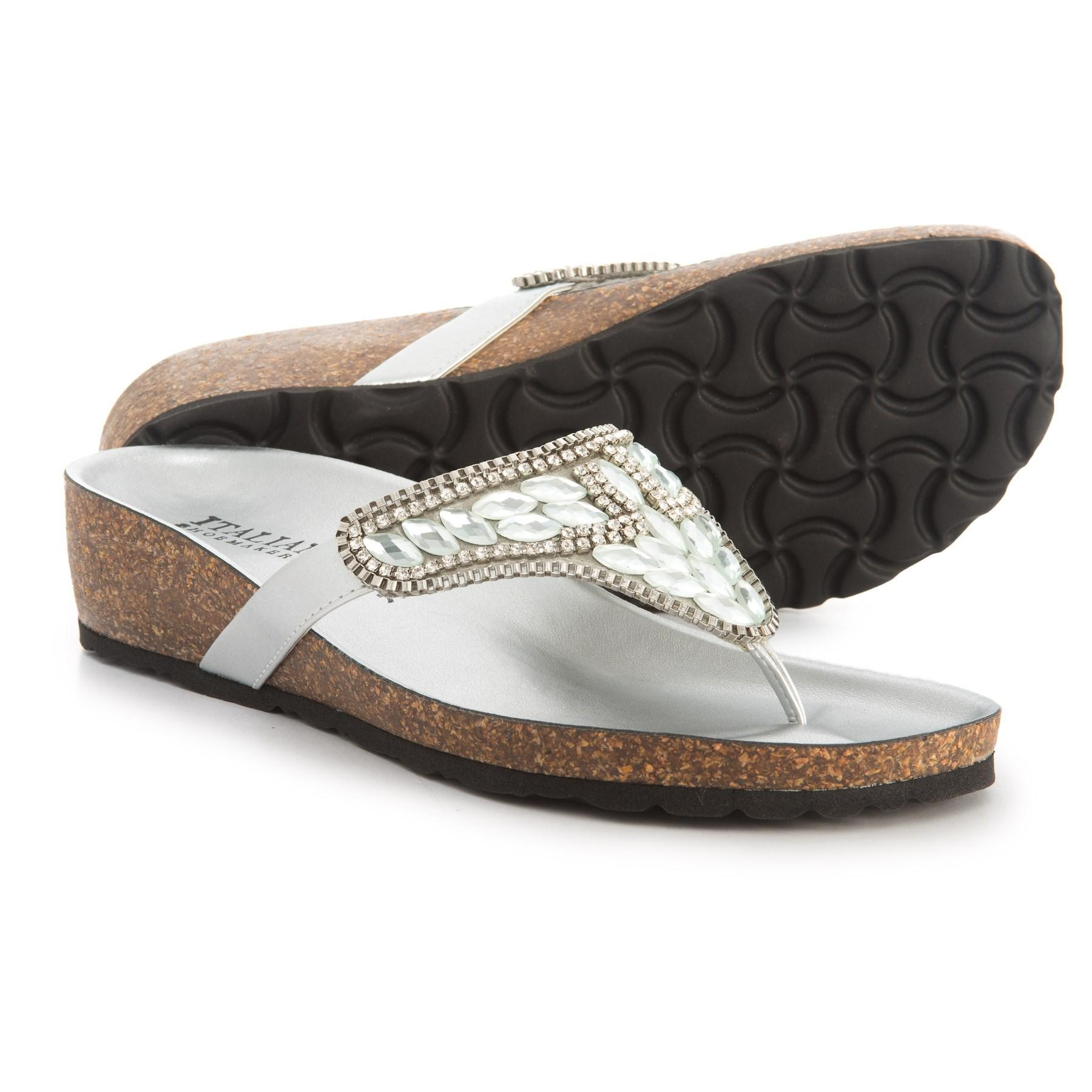 1d92b3ee1135 Lyst - Italian Shoemakers Made In Italy Beretie Jeweled Sandals (for ...