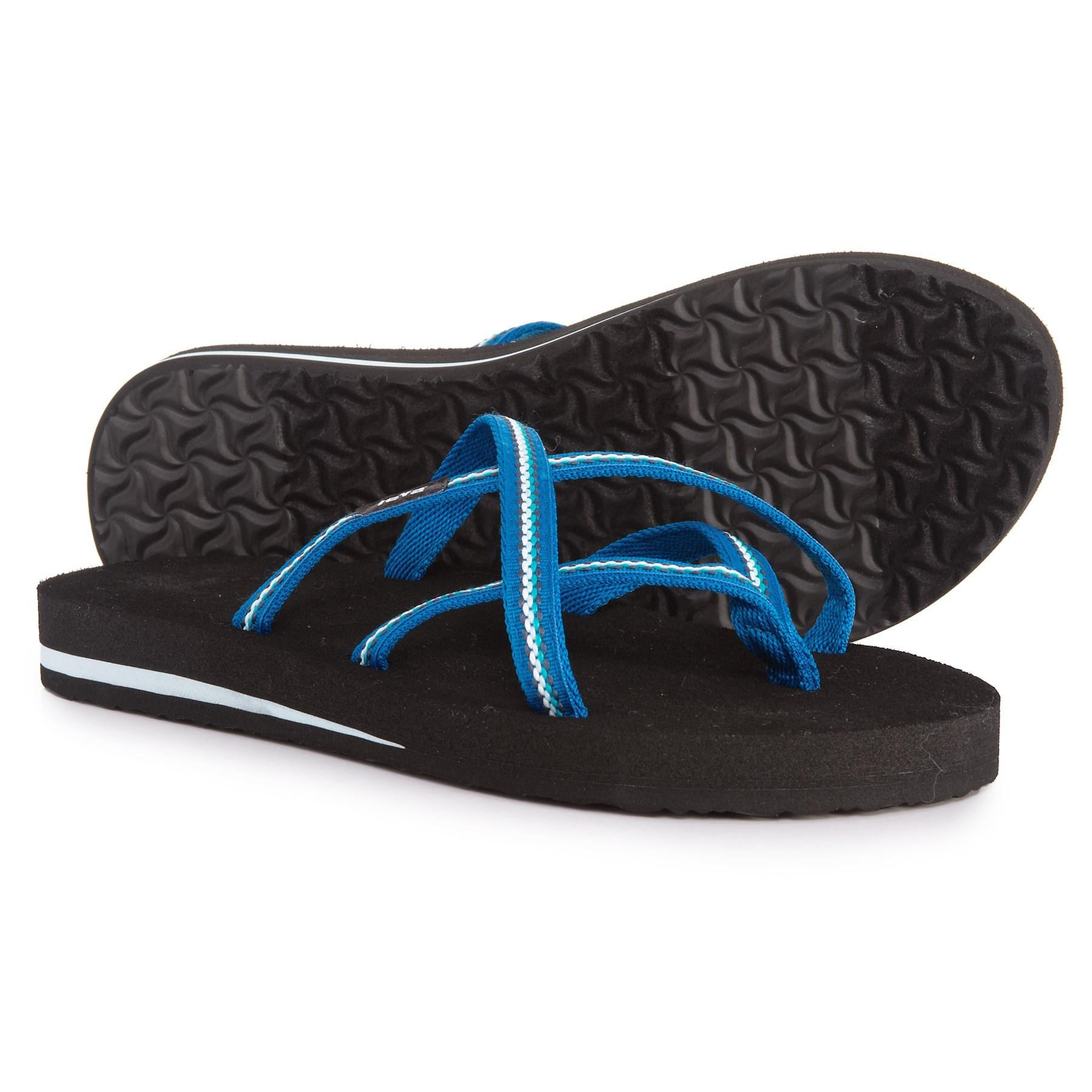 04cf962e5072 Lyst - Teva Olowahu Flip-flops (for Women) in Blue - Save 76%