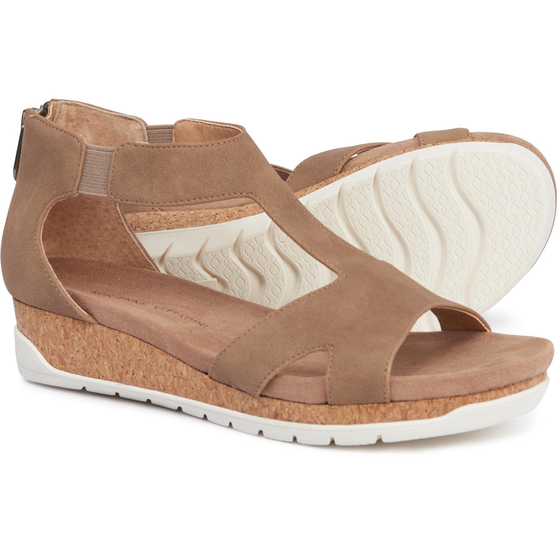 62e58b3531 Adrienne Vittadini Tullio Wedge Sandals (for Women) - Lyst