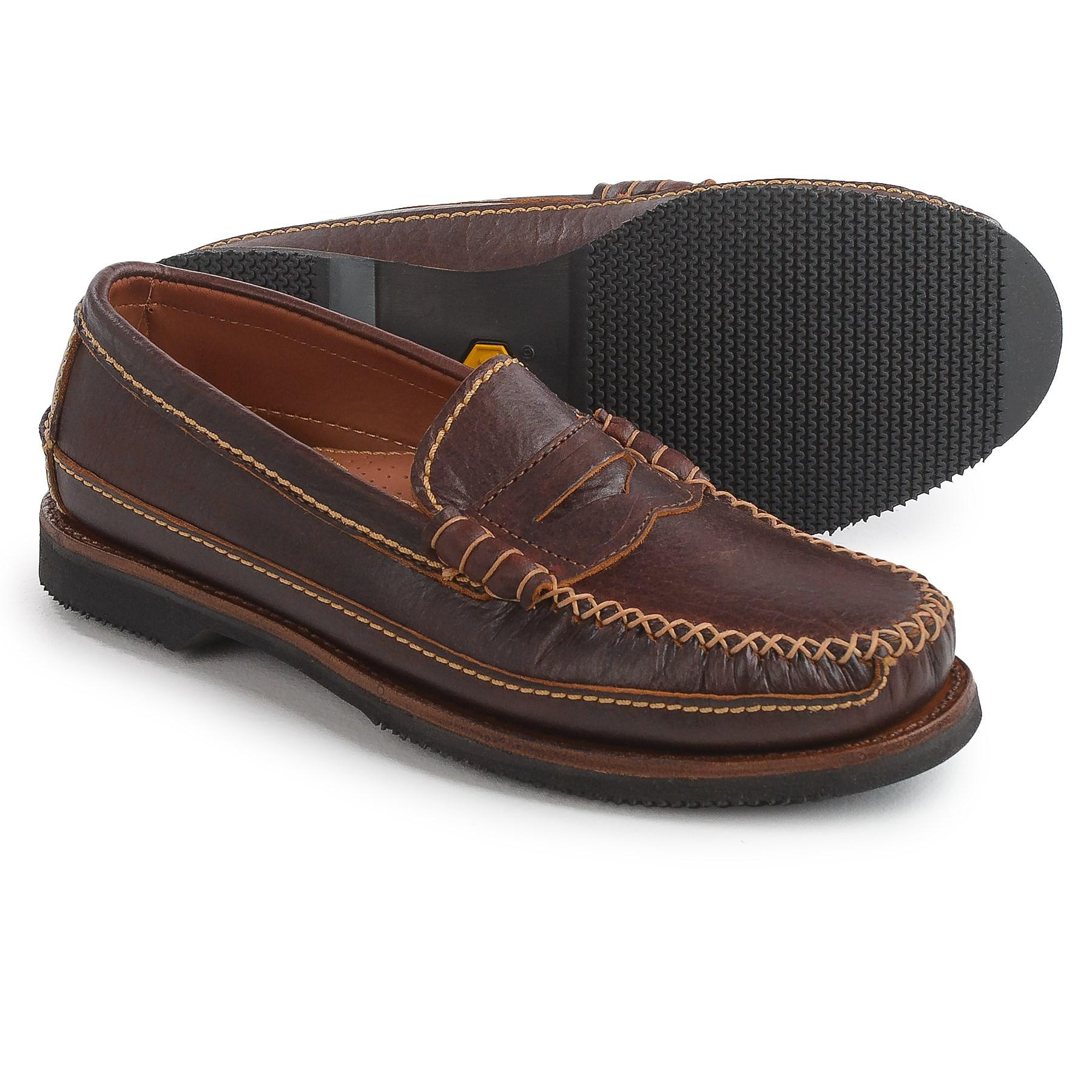 35a77e2835e Lyst - Chippewa American Bison Leather Penny Loafers in Brown for Men