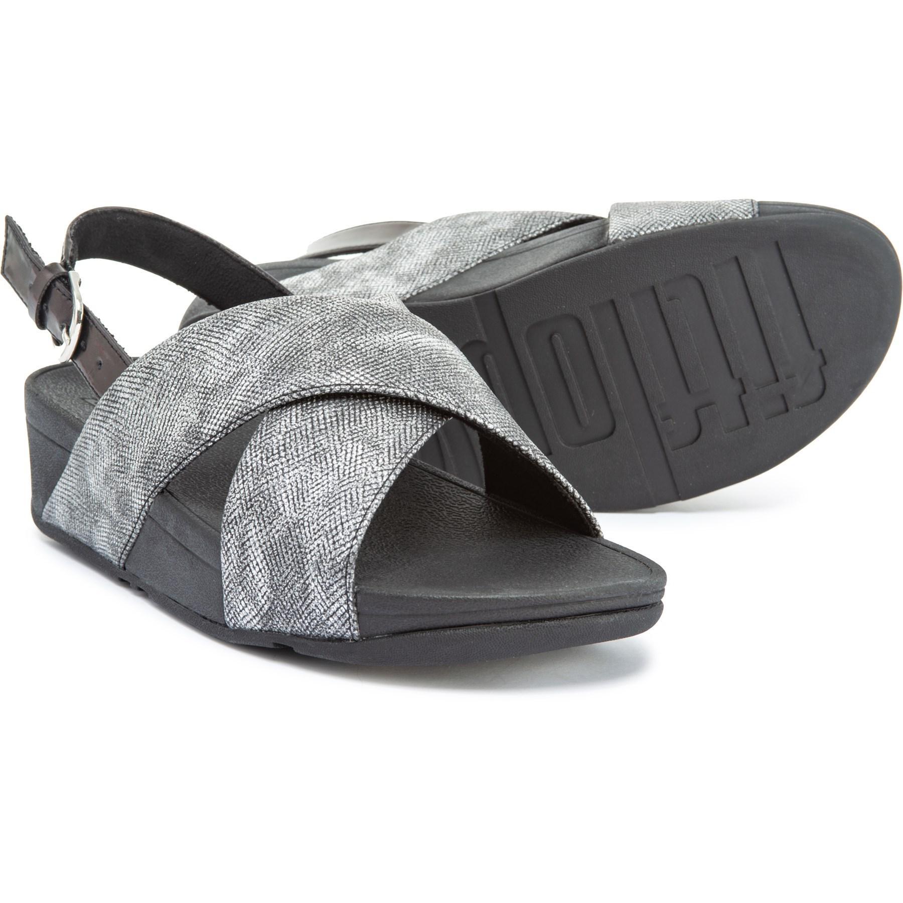 3cea36c85 Lyst - Fitflop Lulu Cross-back Strap Sandals (for Women) in Black