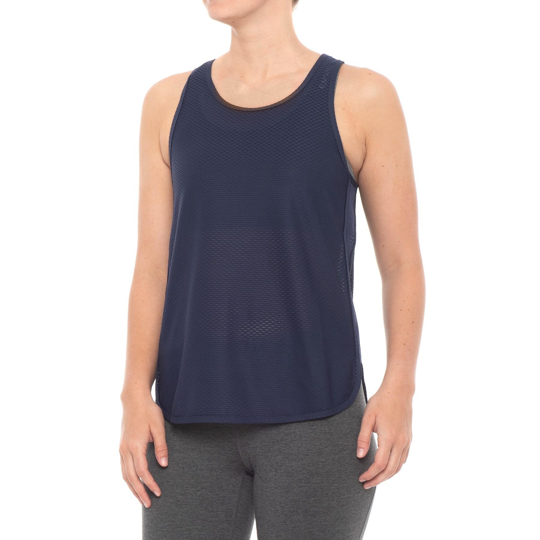 7509ebbdf209a Lyst - New Balance Determination Mesh Tank Top (for Women) in Blue