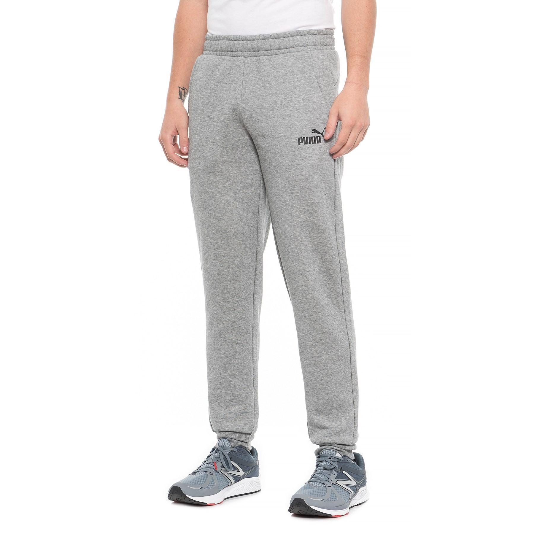 691c78df4507 PUMA - Gray Essential Fleece Joggers (for Men) for Men - Lyst. View  fullscreen