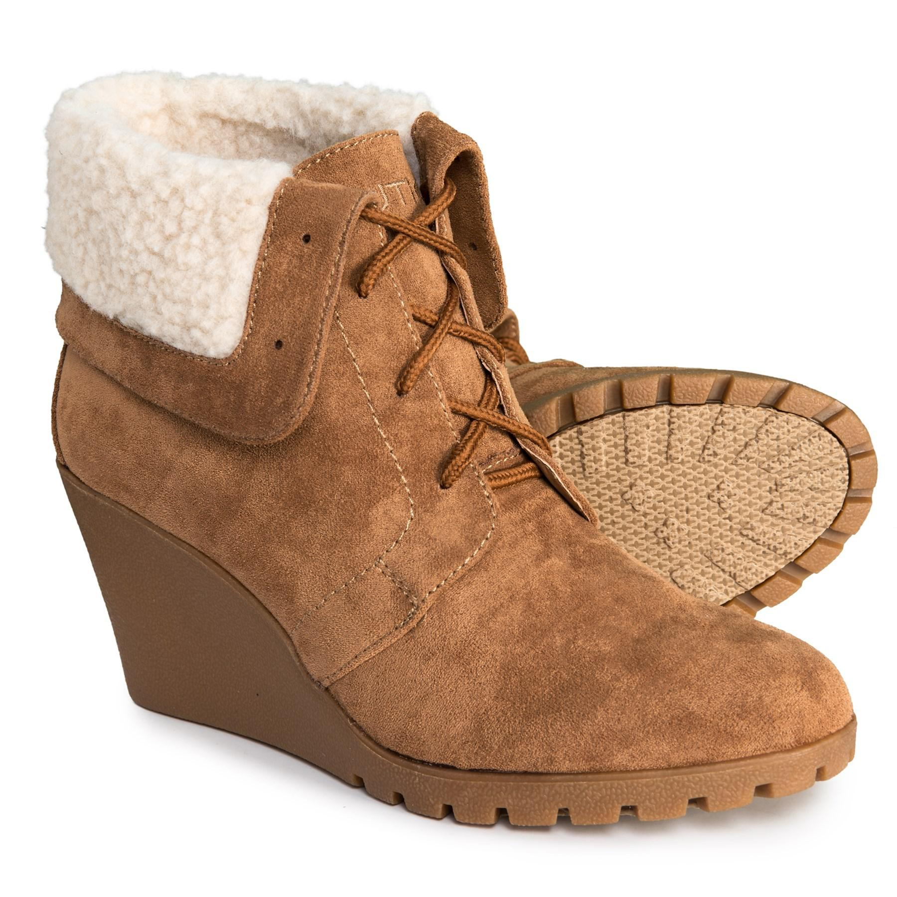 7aa8a0d9641 Lyst - Nautica New Rendon Wedge Ankle Boots (for Women) in Brown