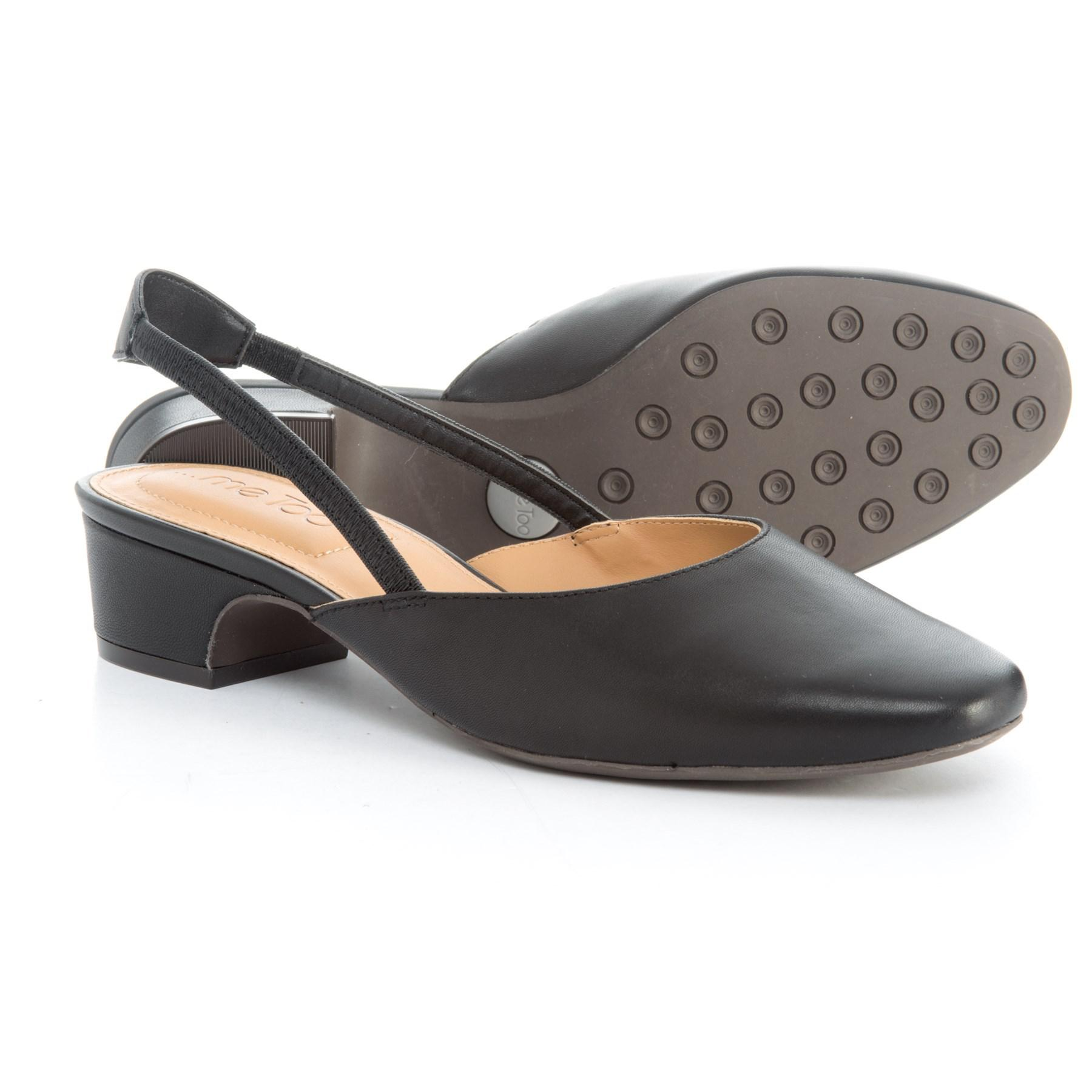 32cb32469f4 Lyst - Me Too Gianna1 Slingback Shoes in Black