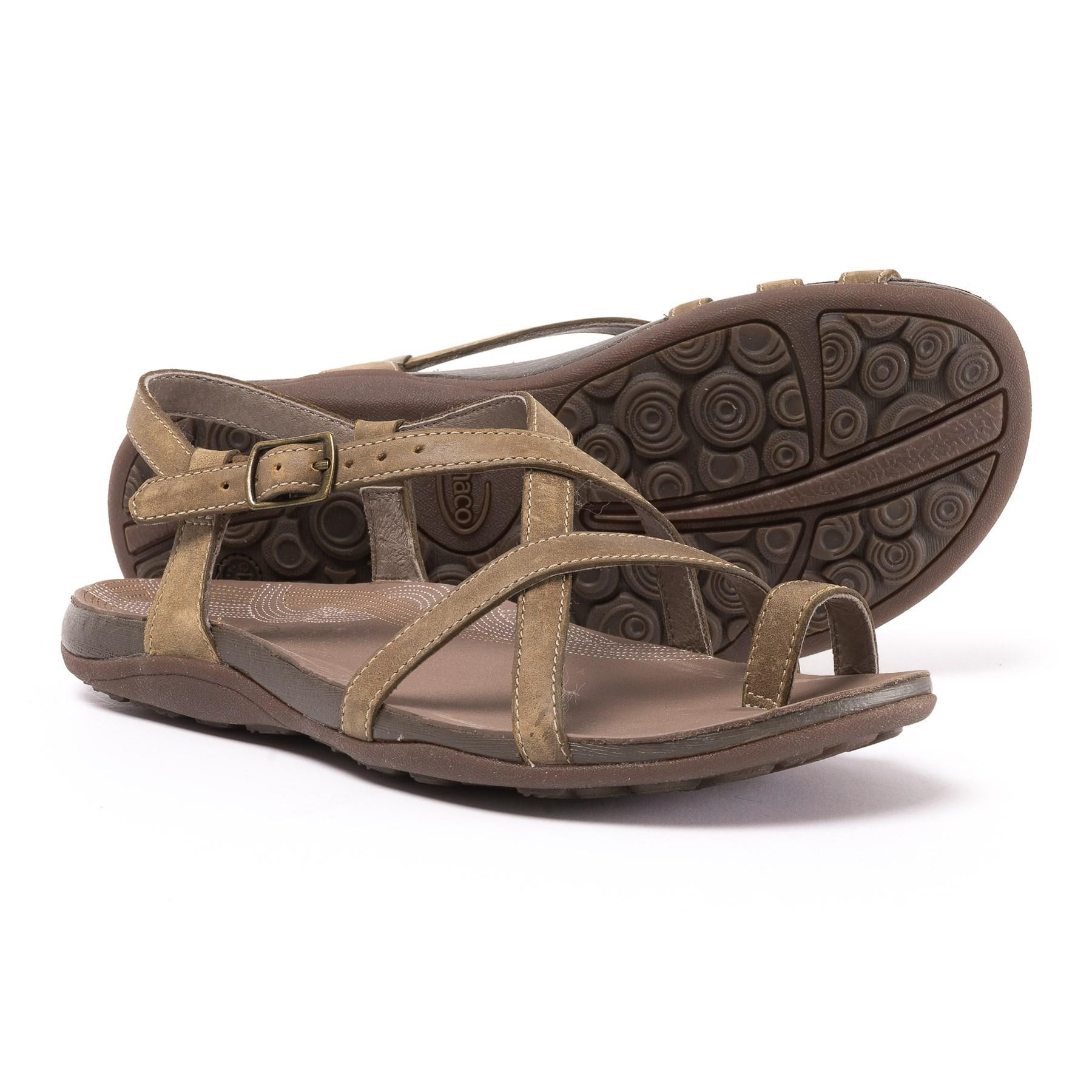 94caa979da4a Lyst - Chaco Dorra Leather Sandals (for Women) in Brown