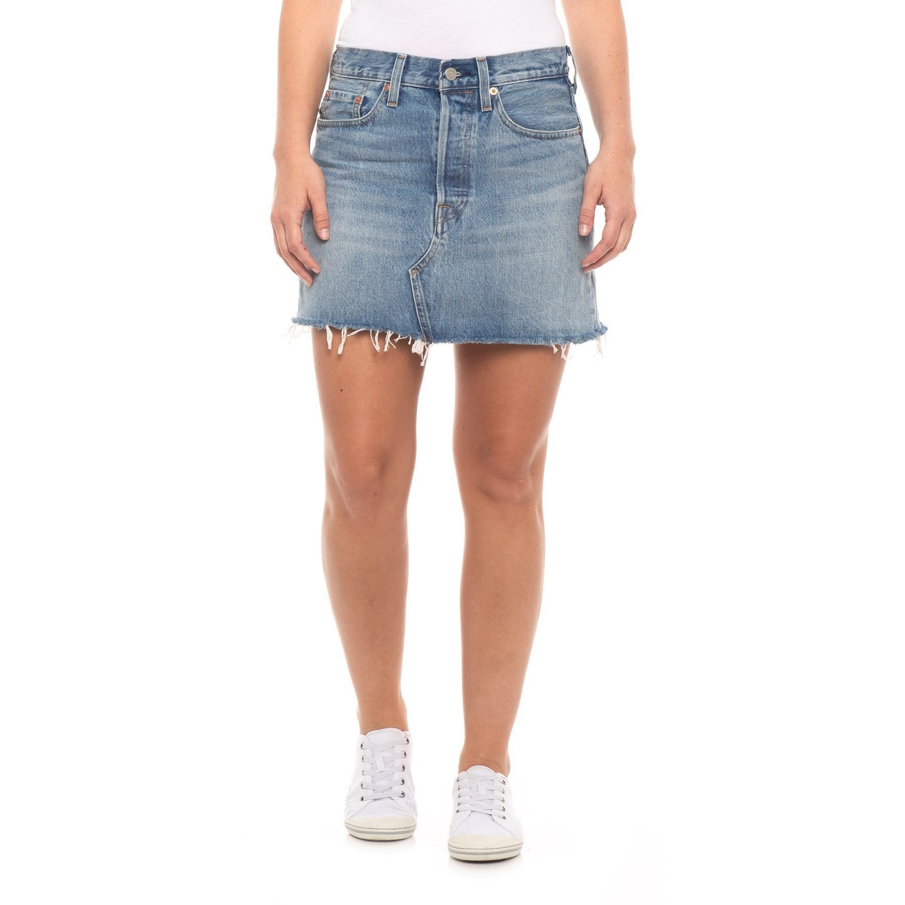 dcd6885bb Levi's Desperate Measures Deconstructed Denim Skirt (for Women) in ...