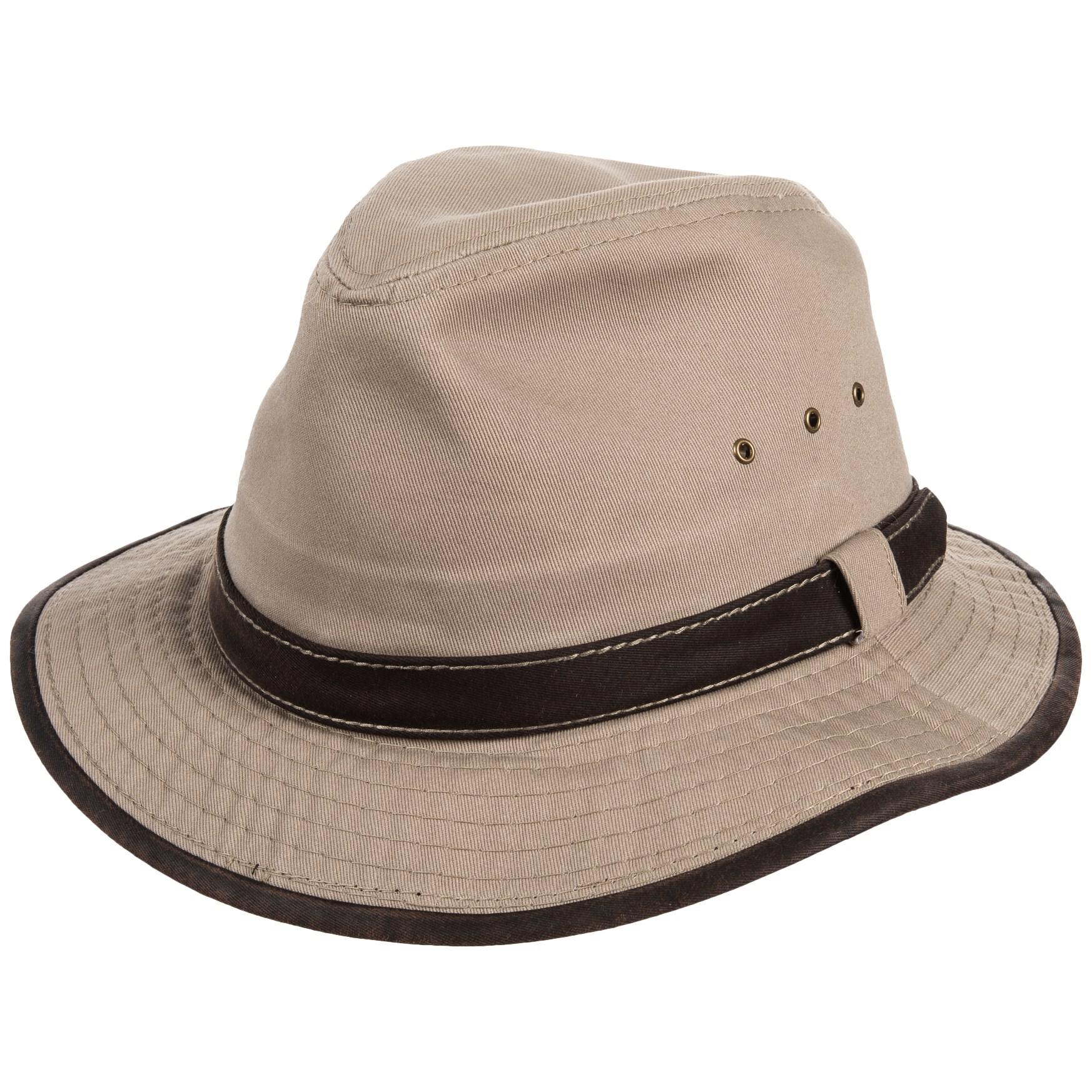 Lyst - Dorfman Pacific Garment-washed Twill Safari Hat in Natural ... ffbe5a21082e