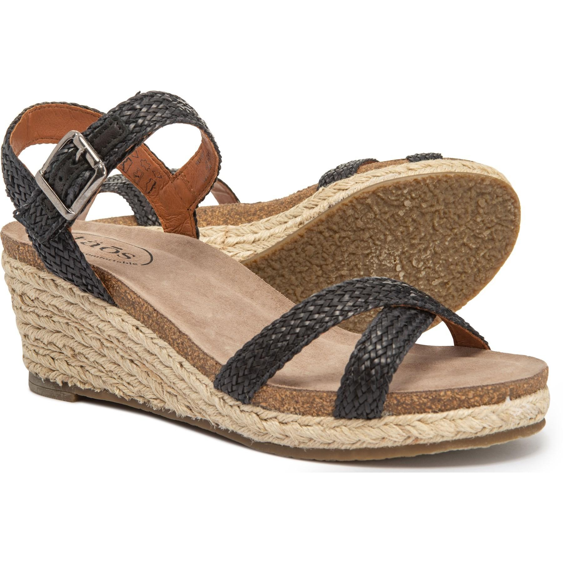 7f136d7b251 Lyst - Taos Footwear Made In Portugal Hey Jute Wedge Sandals (for ...