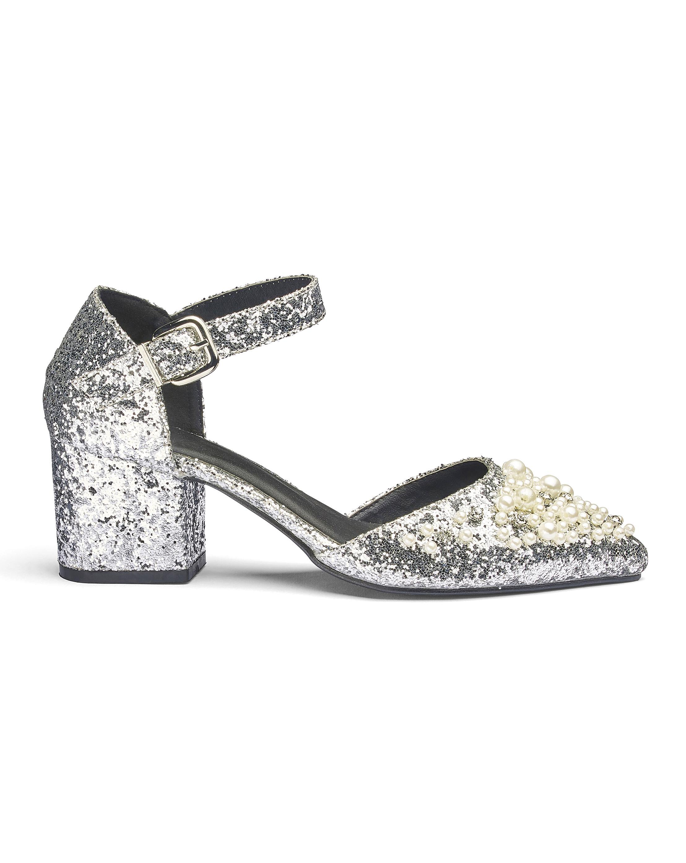 f49f4d16a Lyst - Simply Be Sole Diva Emma Embellished Heels in Metallic
