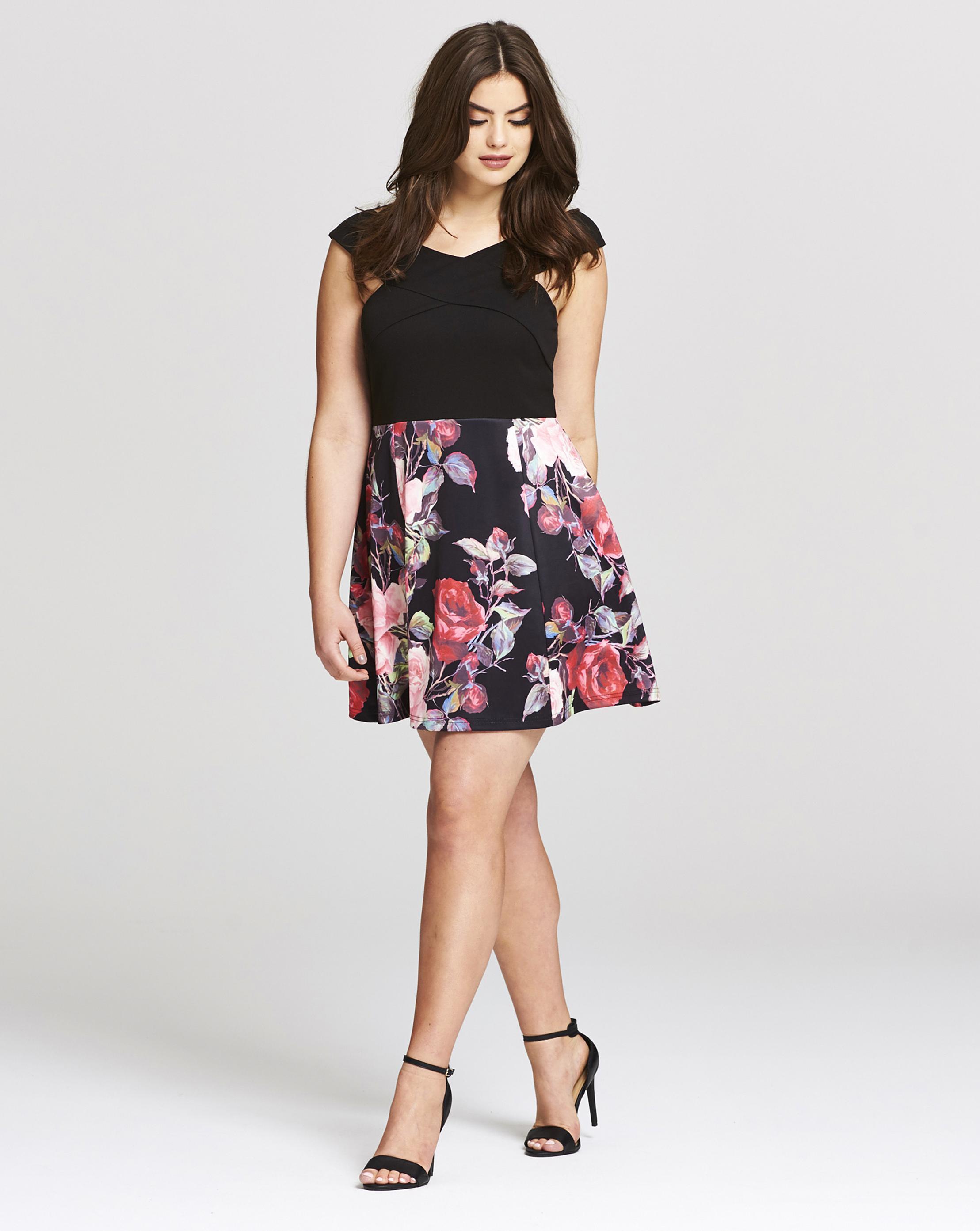 Lyst - Simply Be Ax Paris Bardot Prom Dress