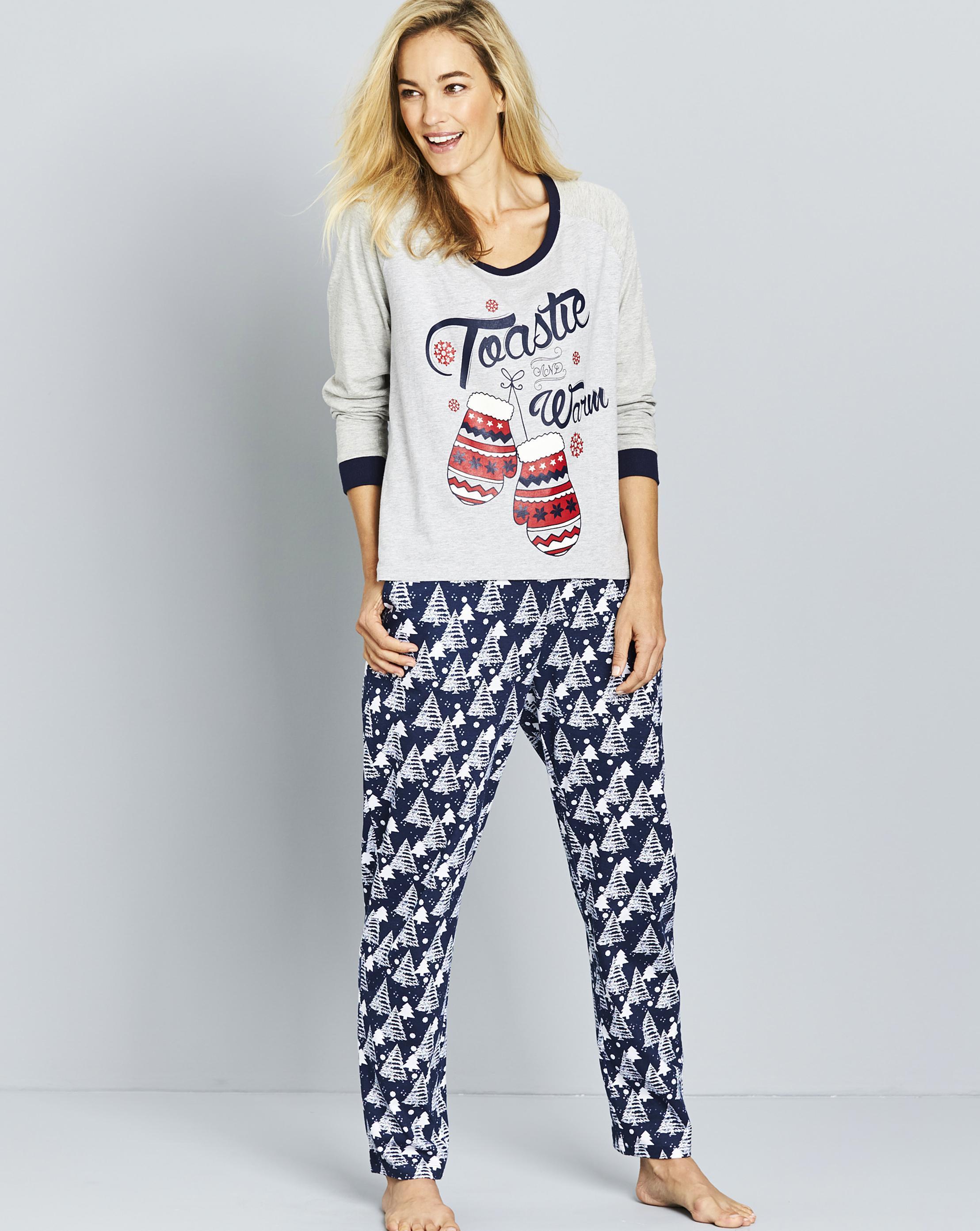 Lyst - Simply Be Pretty Secrets Snow Pajama Set in Gray deff1443e