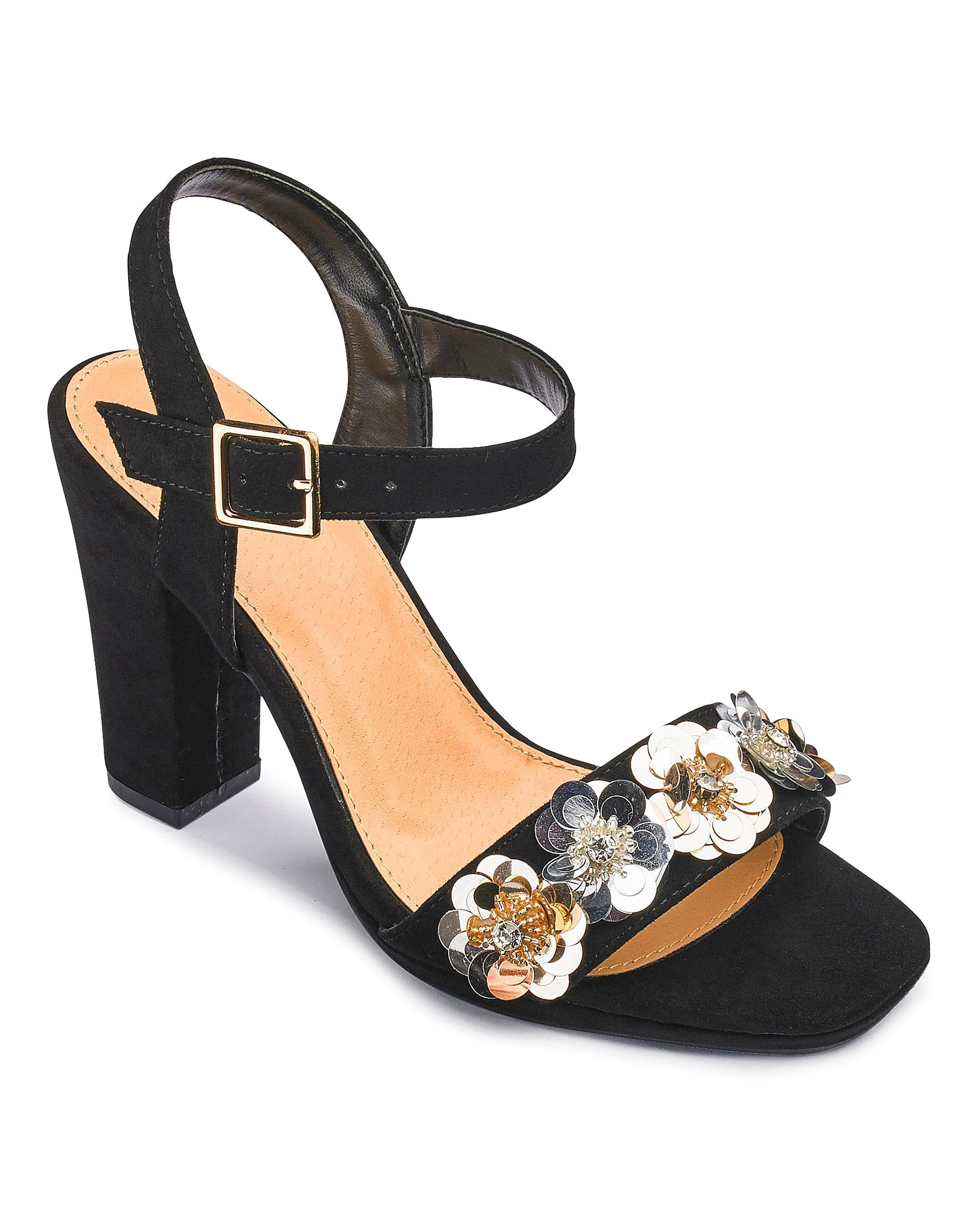 59402421b ... Sole Diva Flower Trim Heels - Lyst. View fullscreen