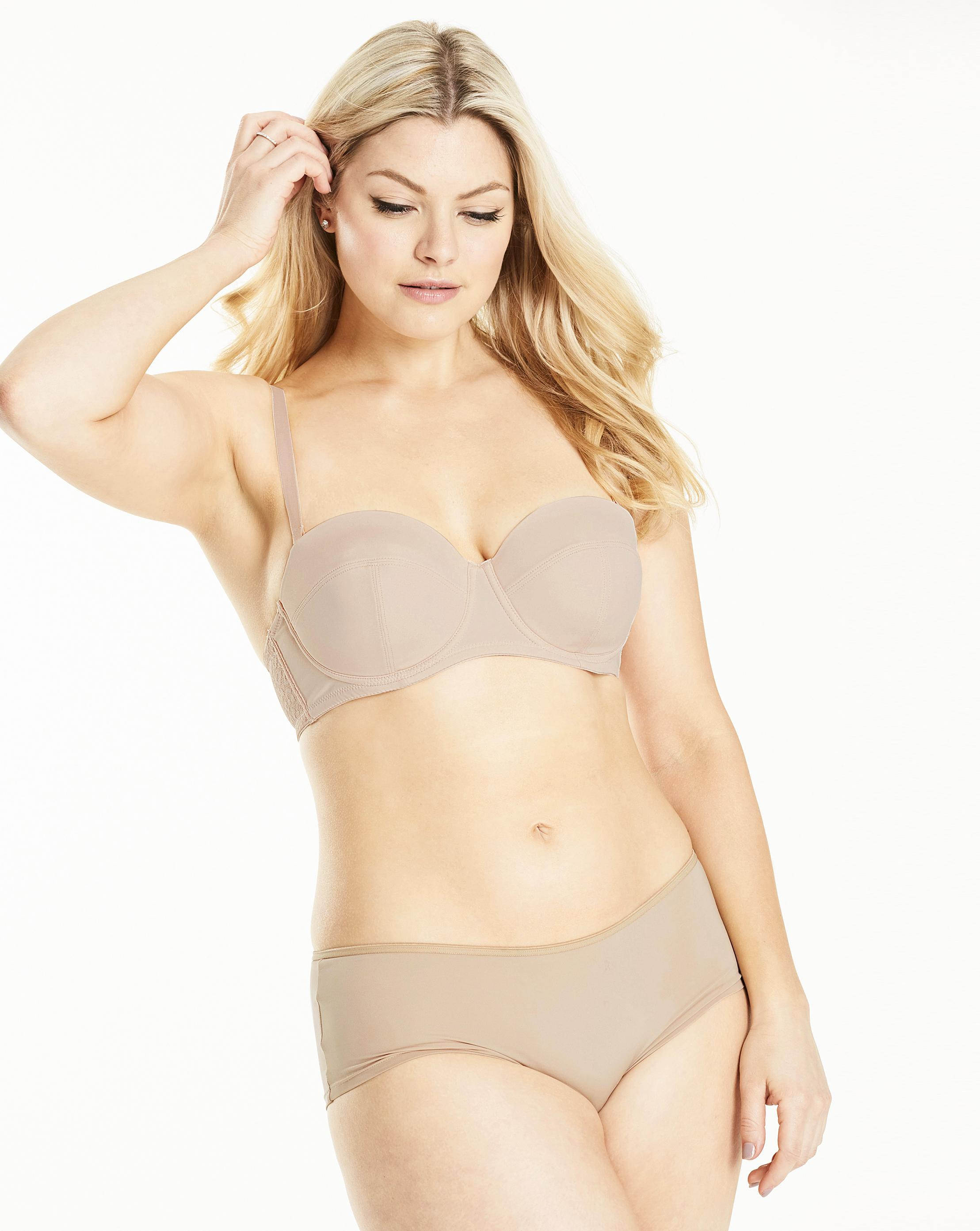 86ee767bc4837 Lyst - Simply Be Sienna Solutions Multiway Bra in Natural