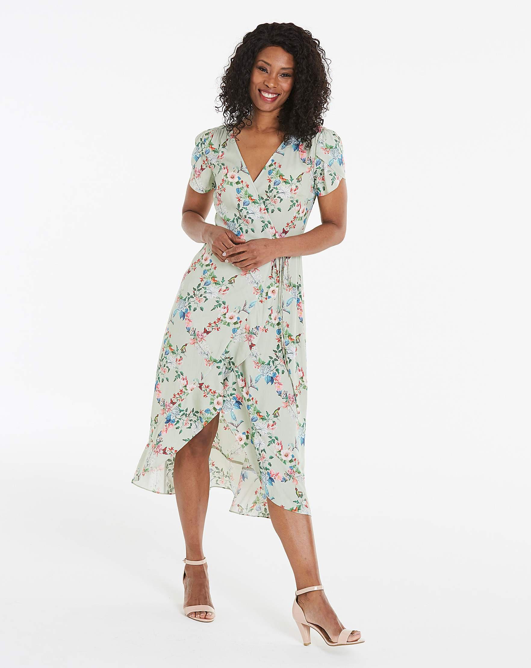 0f9c828ed697 Oasis Fitzwilliam Newby Midi Tea Dress in Green - Lyst