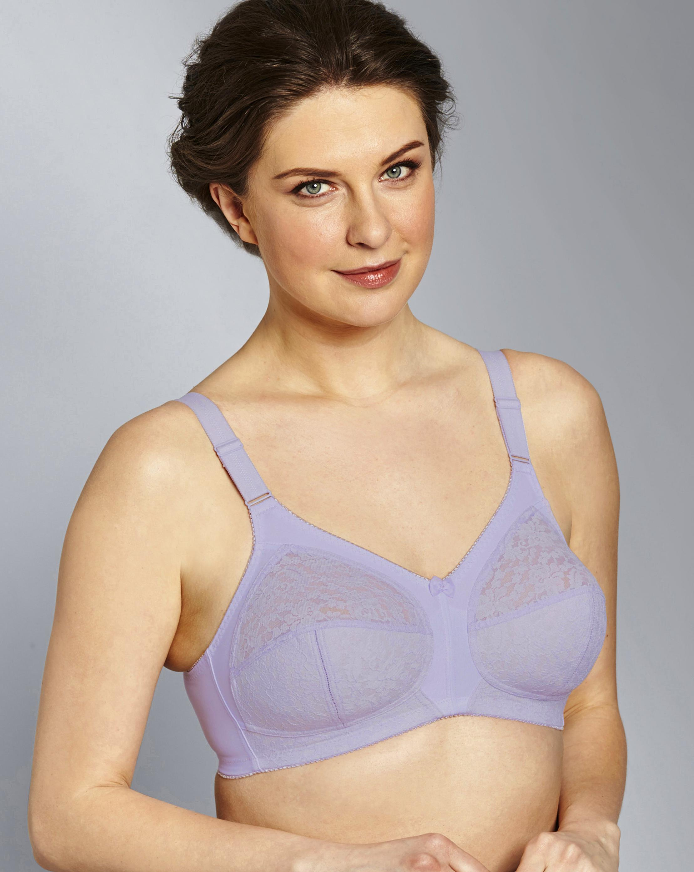a0967a09c35dd Lyst - Simply Be Naturally Close Dotty Full Cup Non Wired Bra in Purple