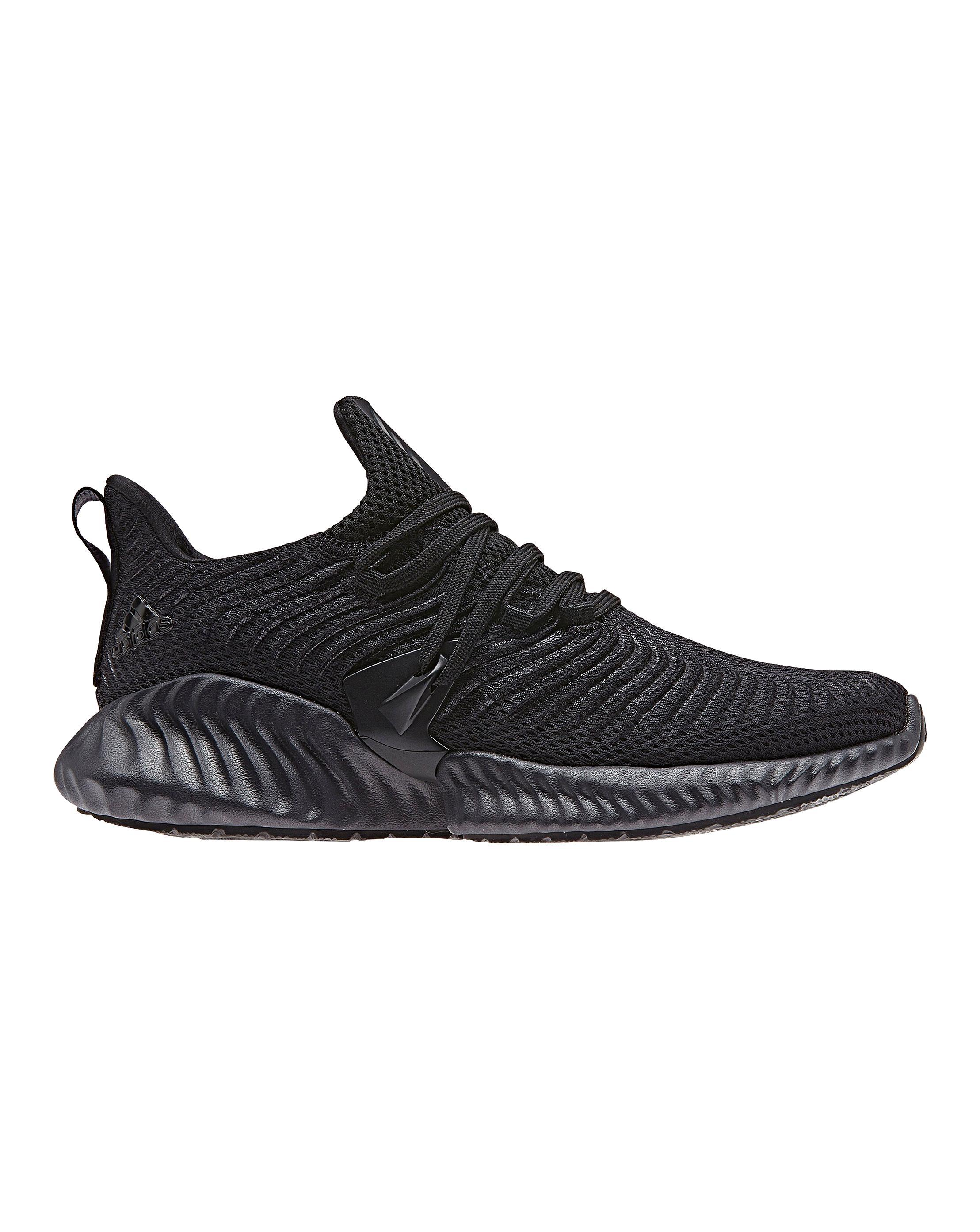 promo code a7f7e e0611 Simply Be. Mens Black Adidas Alphabounce Instinct Sneakers