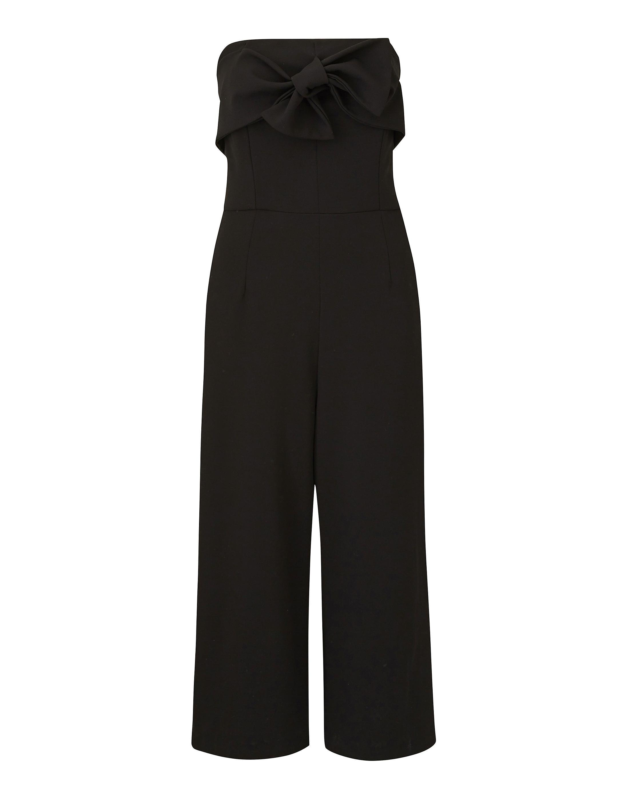 dea41f241bb Lyst - Simply Be Joanna Hope Bow Detail Jumpsuit in Black