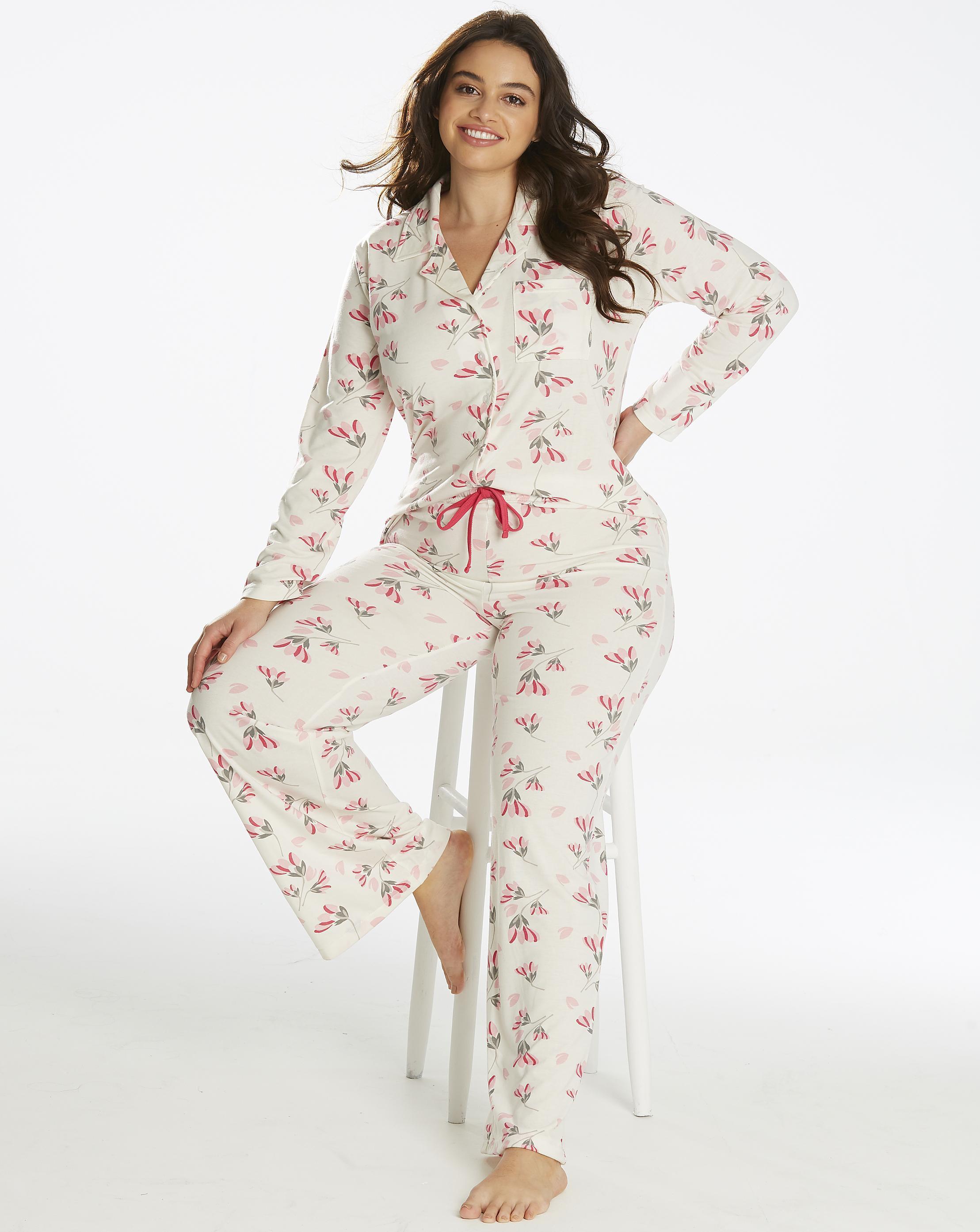 82295a6071 Lyst simply be pretty secrets button front pyjamas jpg 2217x2786 Pretty  secrets nightwear
