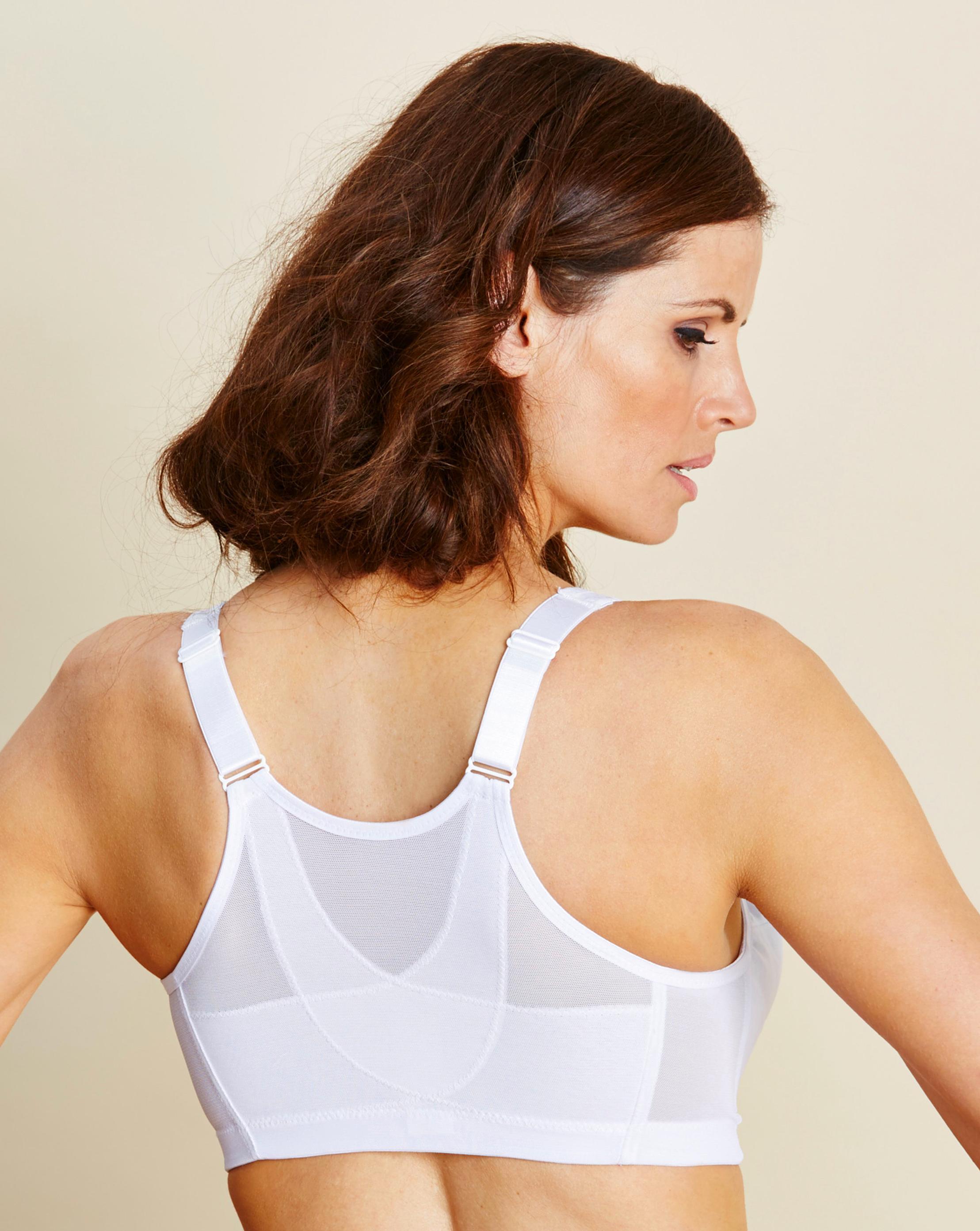 99568ab3b7 Lyst - Simply Be Glamorise Back Support Non Wired Cafe Bra in White