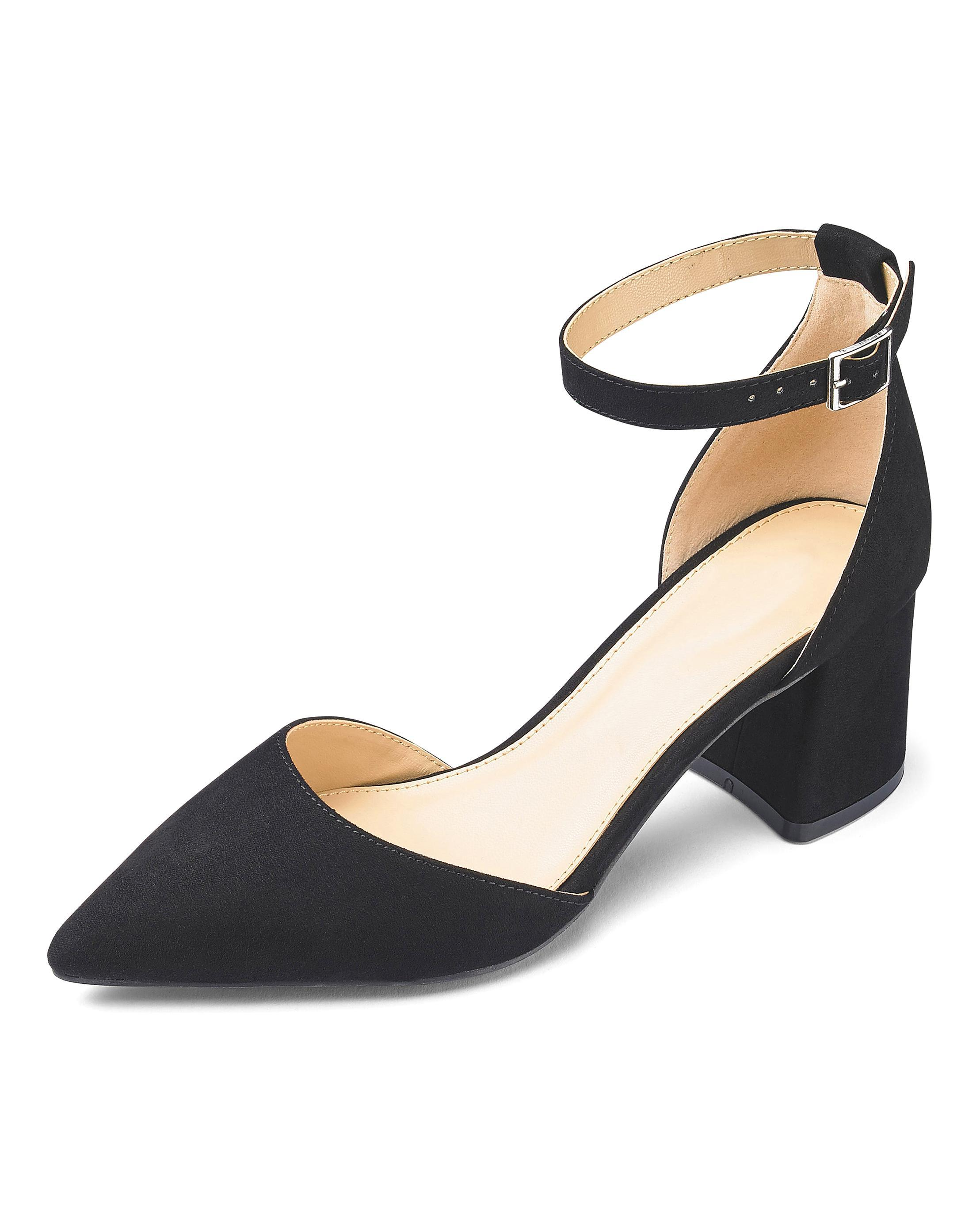 f69a492459c Lyst - Simply Be Este Pointed Block Heels in Black