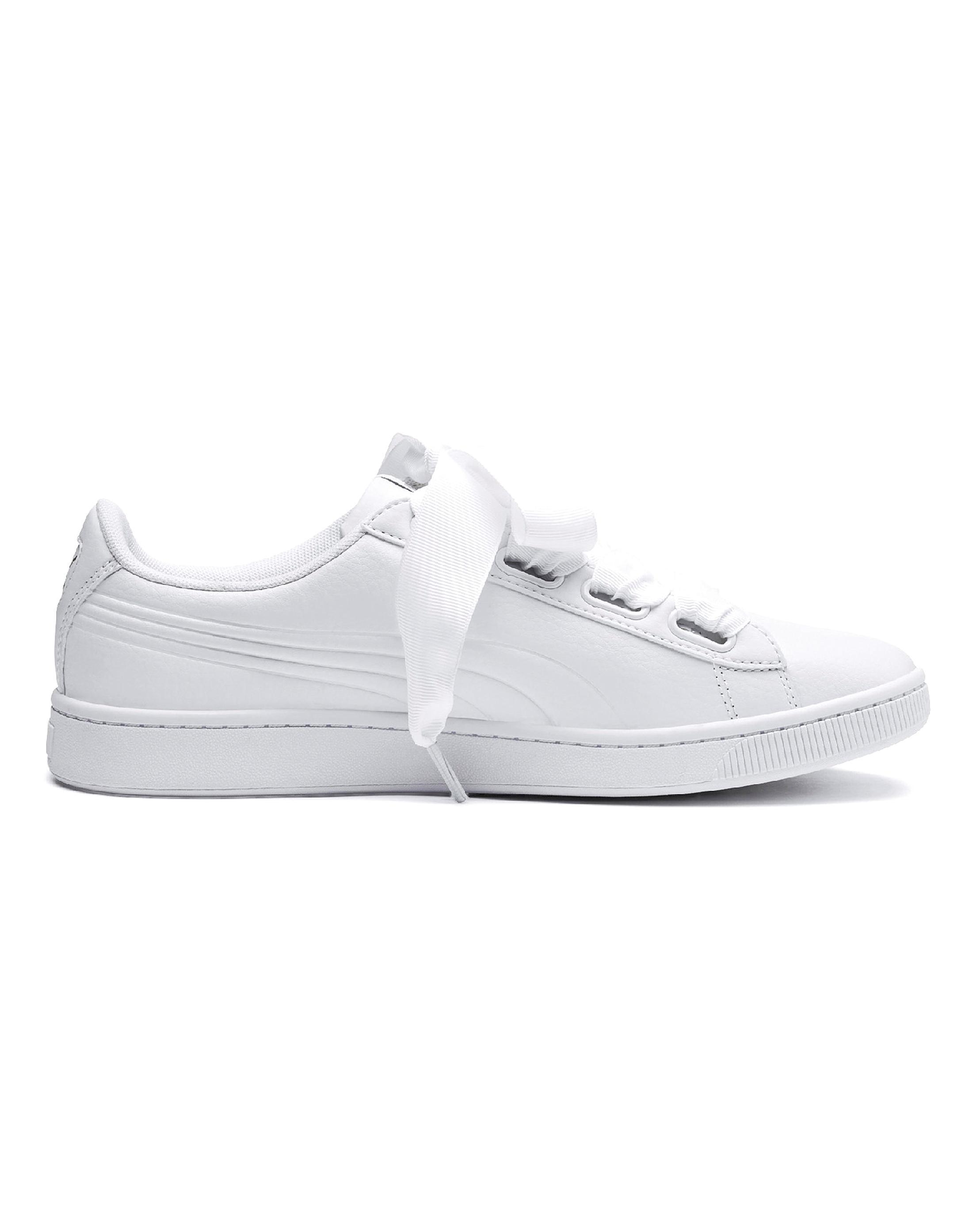 83fb6a972c Simply Be Puma Vikky V2 Ribbon Sneakers in White - Lyst