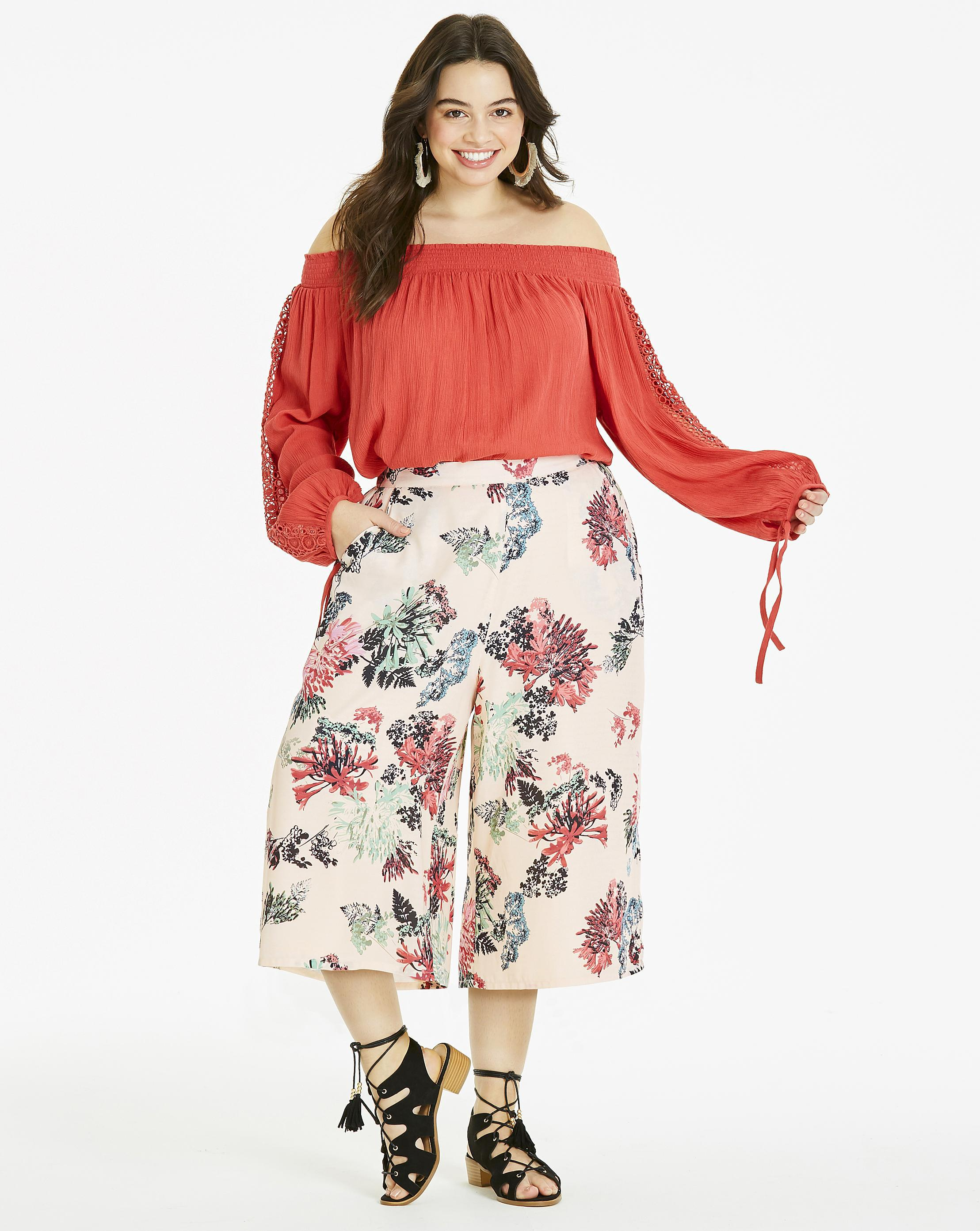 Womens Wide Leg Culottes Trousers Simply Be ZrvFN6dzn