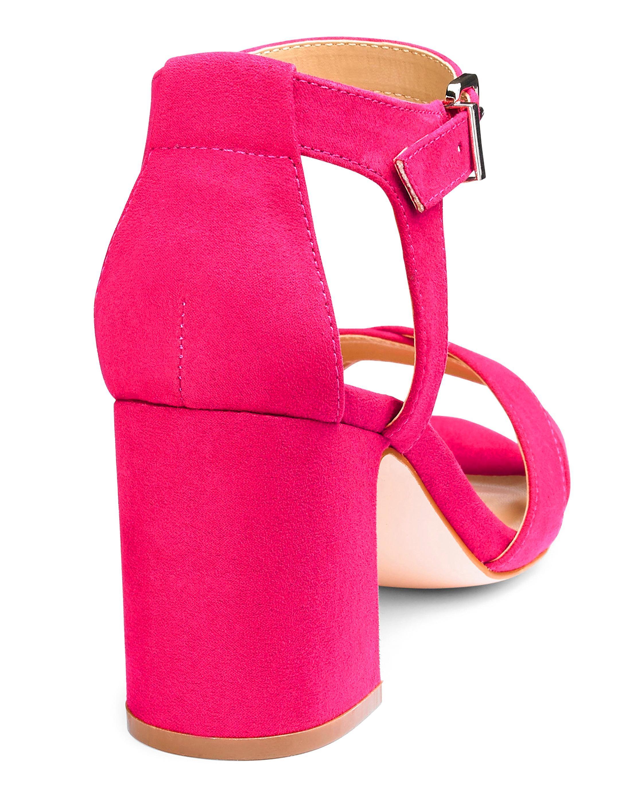 eeacd99b4e4 Lyst - Simply Be Helen Block Heels in Pink