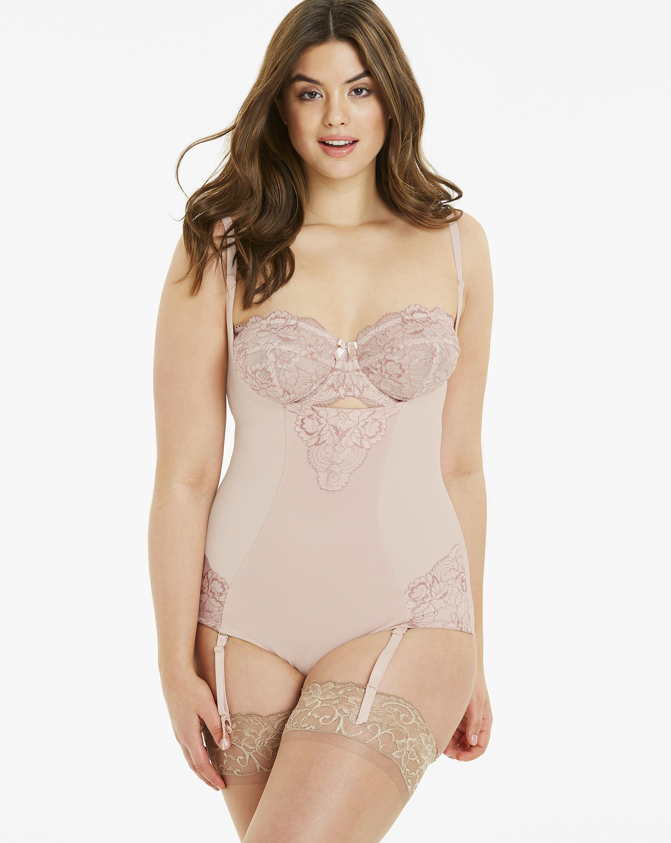fdeee4a270 Lyst - Simply Be Magisculpt Ella Lace Wear Your Own Bra Blush Firm ...