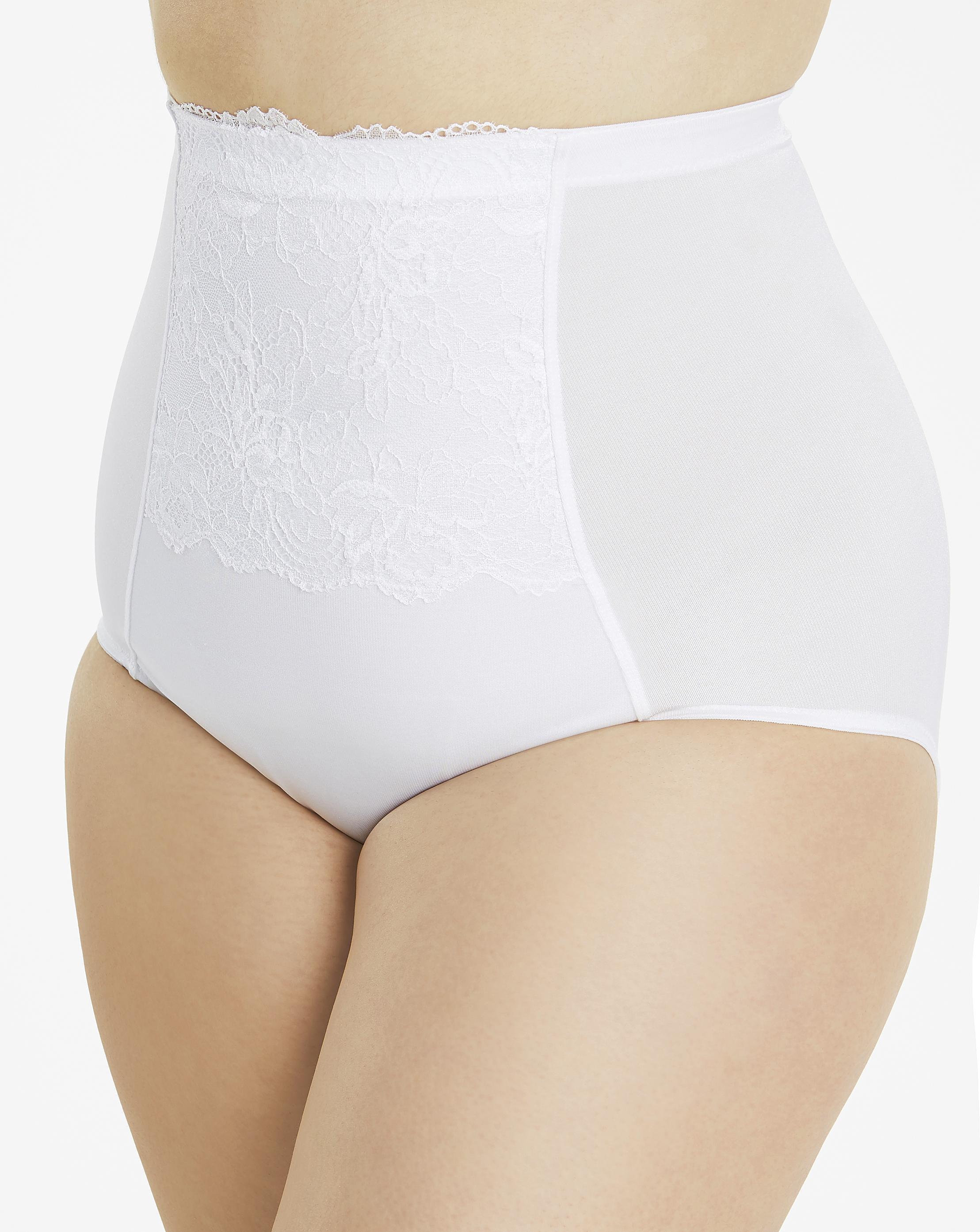 25a09e2ce09 Simply Be. Women s White Magisculpt Ella Lace Firm Control Waist Nipper