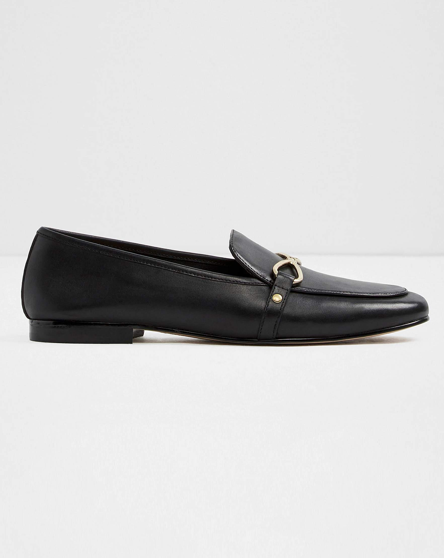 bdd2ca84aff ALDO Afaucia Leather Loafer Standard Fit in Black - Lyst