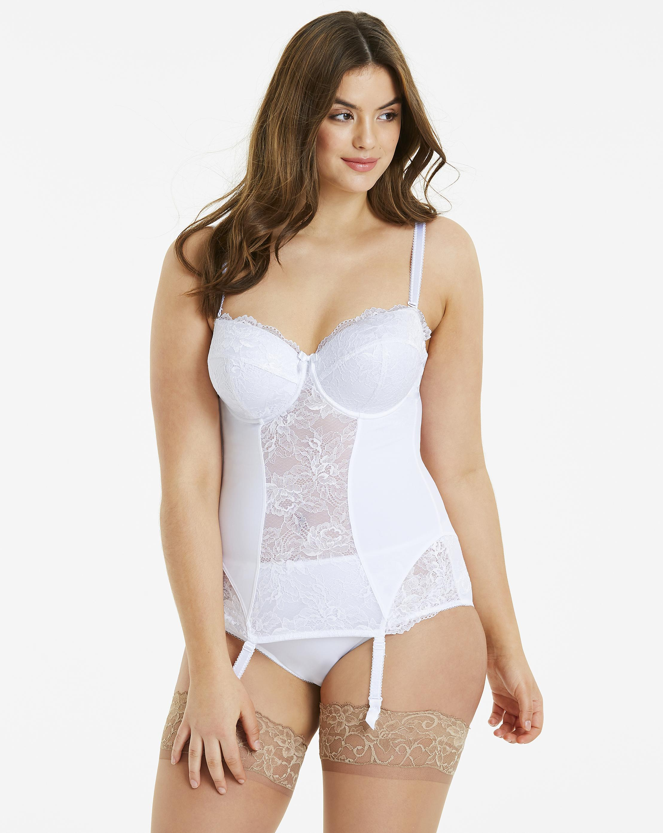 cb096482f4 Lyst - Simply Be Pretty Secrets Ella Padded Multiway Basque in White
