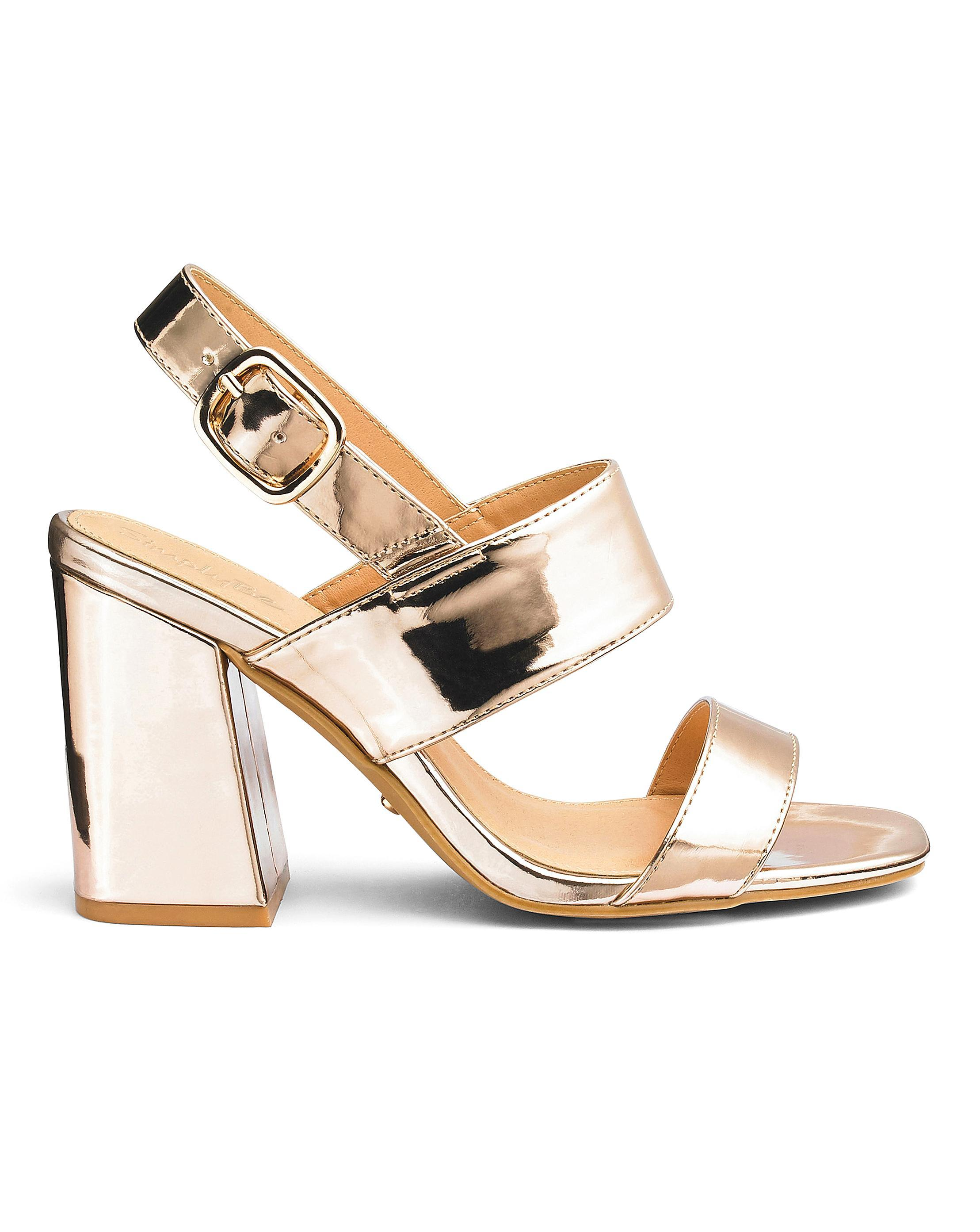 0130c9694f97 Lyst - Simply Be Sole Diva Darcy Sandal Extra Wide Eee Fit in Metallic