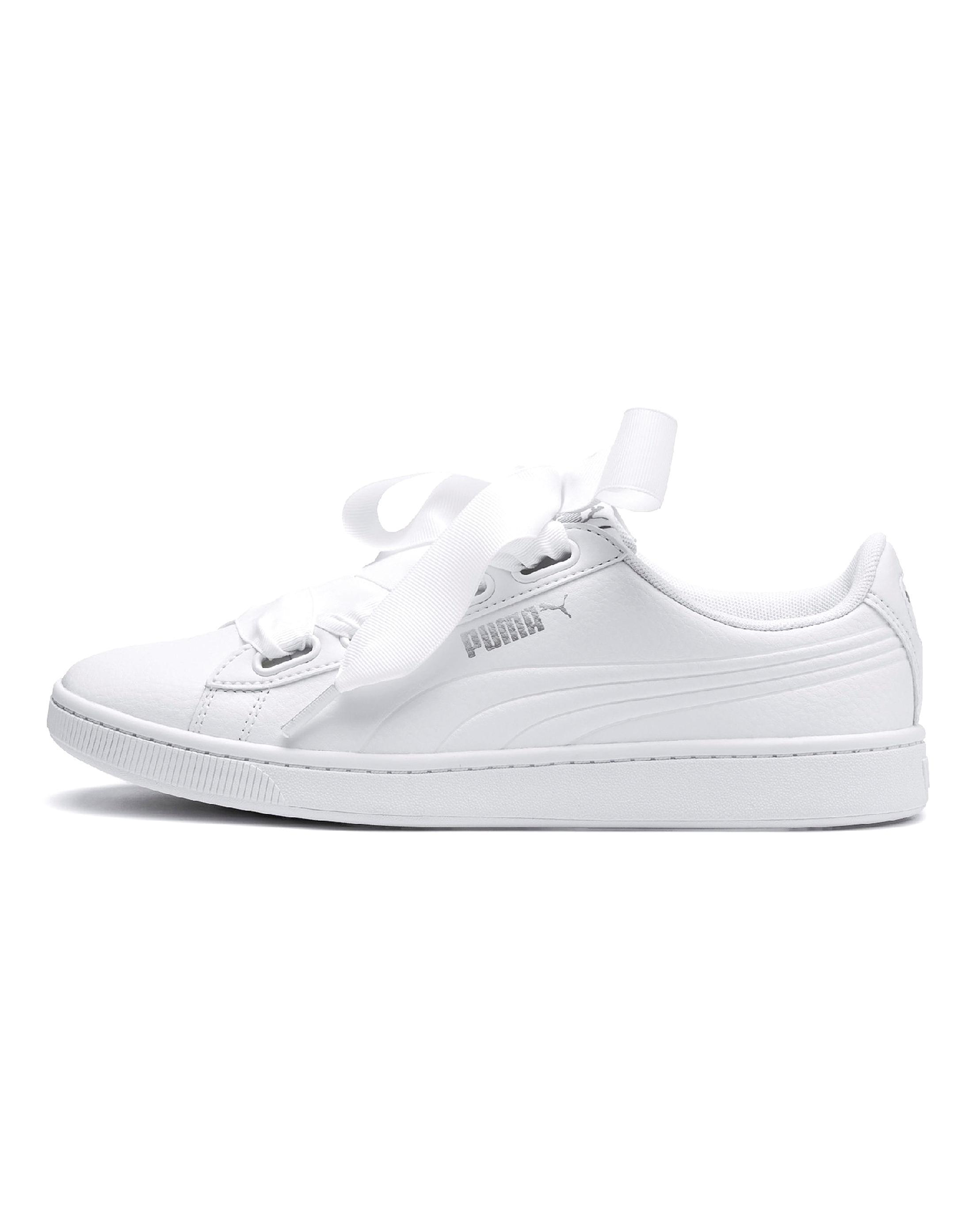 Lyst - Simply Be Puma Vikky V2 Ribbon Sneakers in White bada4a3e5