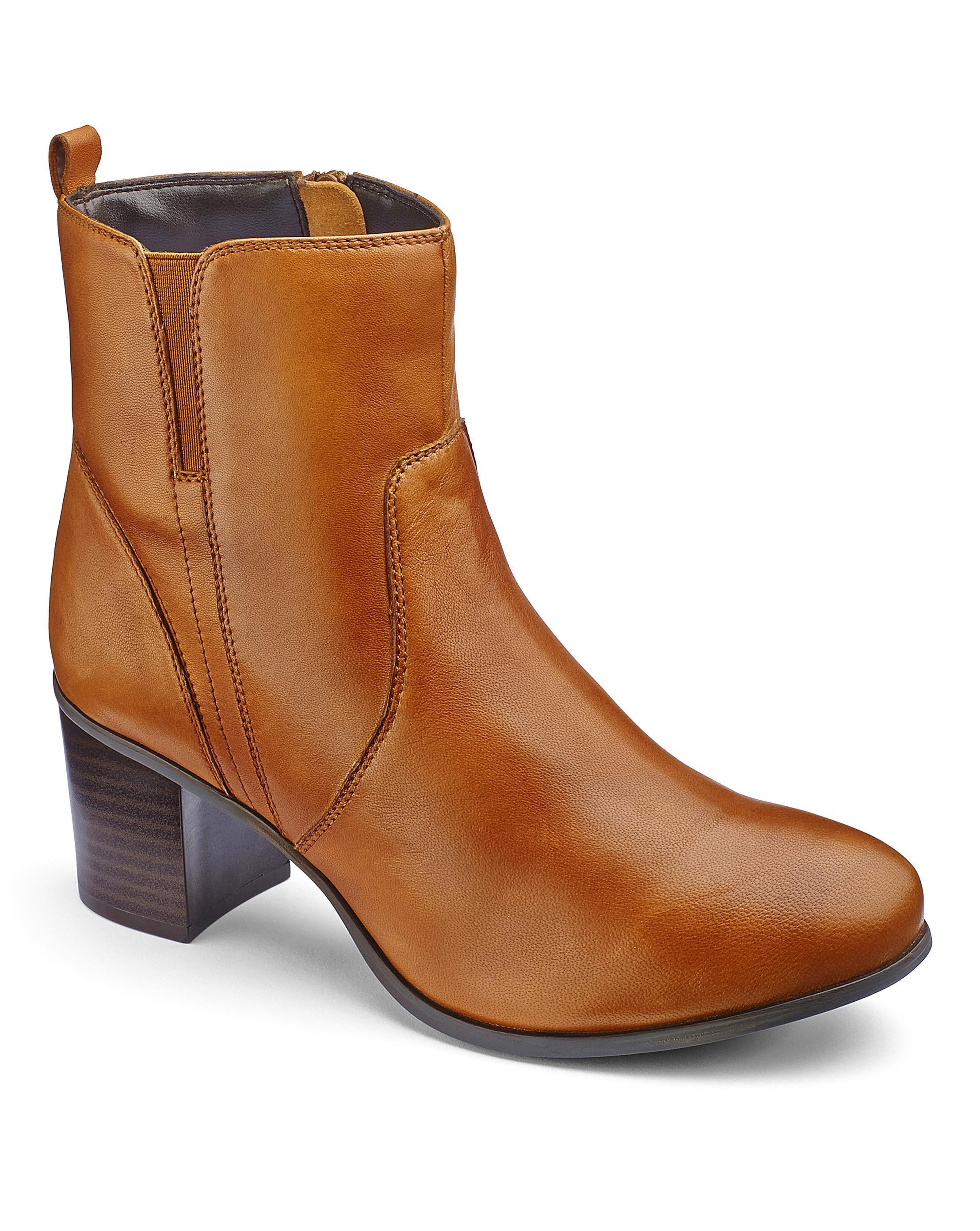 cheap sale amazing price Heavenly Soles Heeled Leather Ankle Boots Wide E Fit newest sale online shopping online free shipping JqMtDJKn7