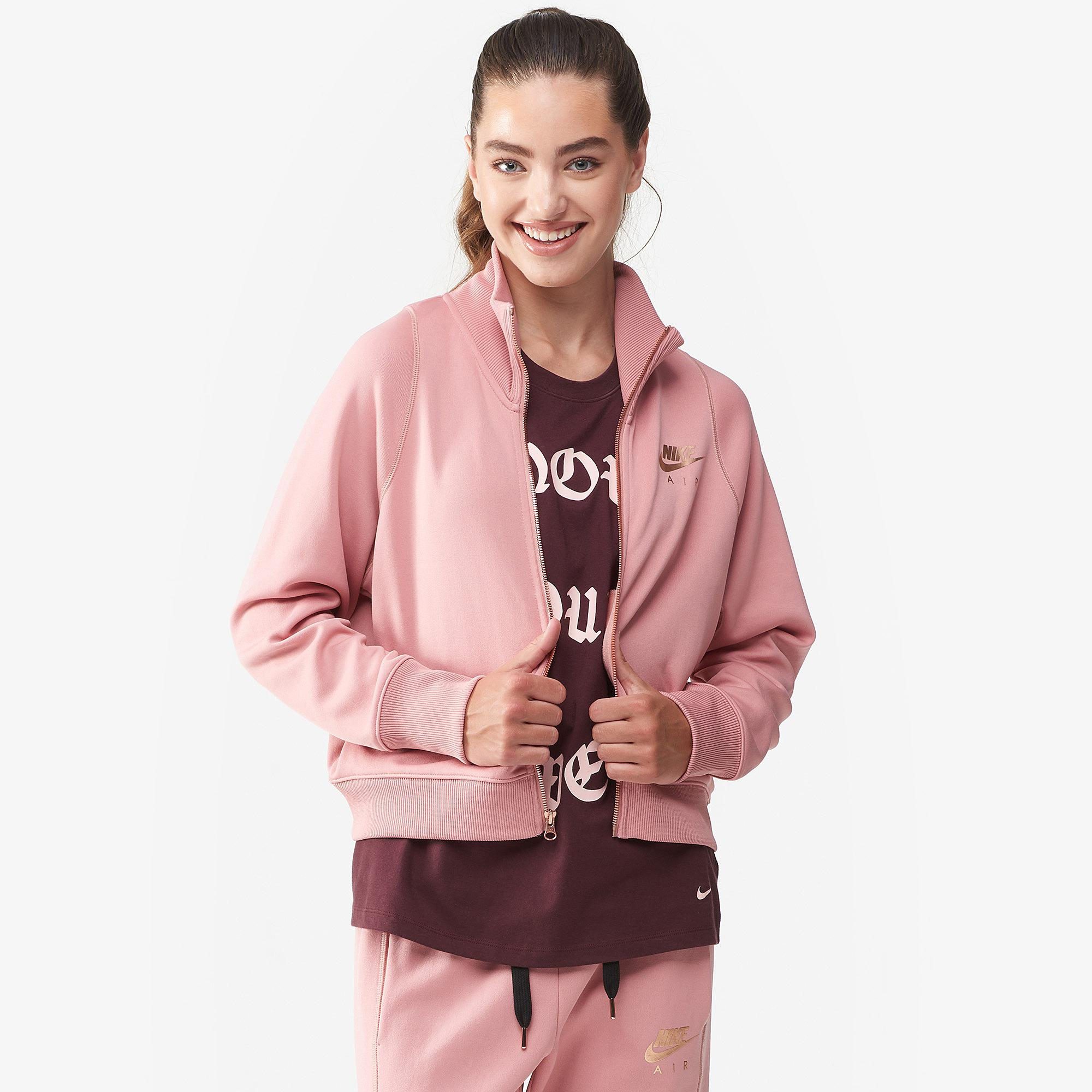 0c388dbd1969 Lyst - Nike Rose Gold Metallic Air Track Jacket in Pink