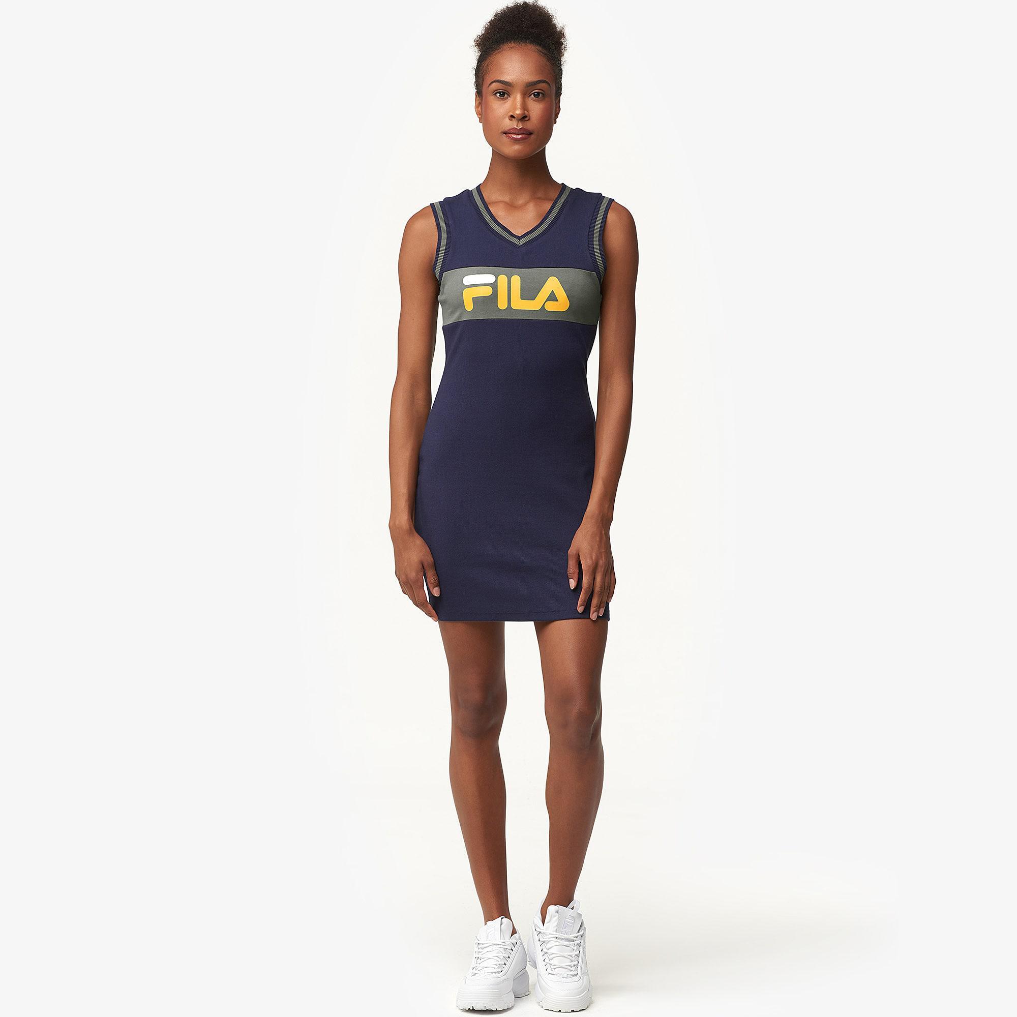 2680038b089c Fila - Blue Leigh Rib Dress - Lyst. View fullscreen