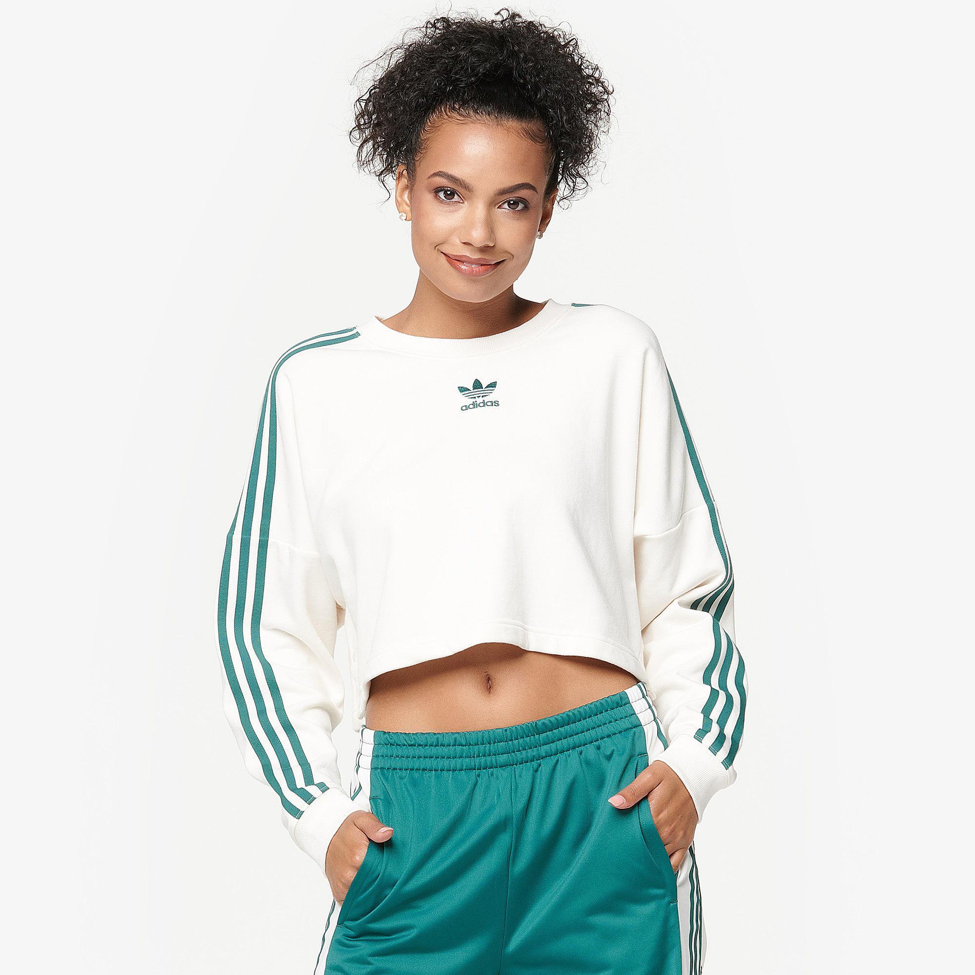 fb61d121fb0b Lyst - Adidas Originals Adibreak Cropped Sweater in White