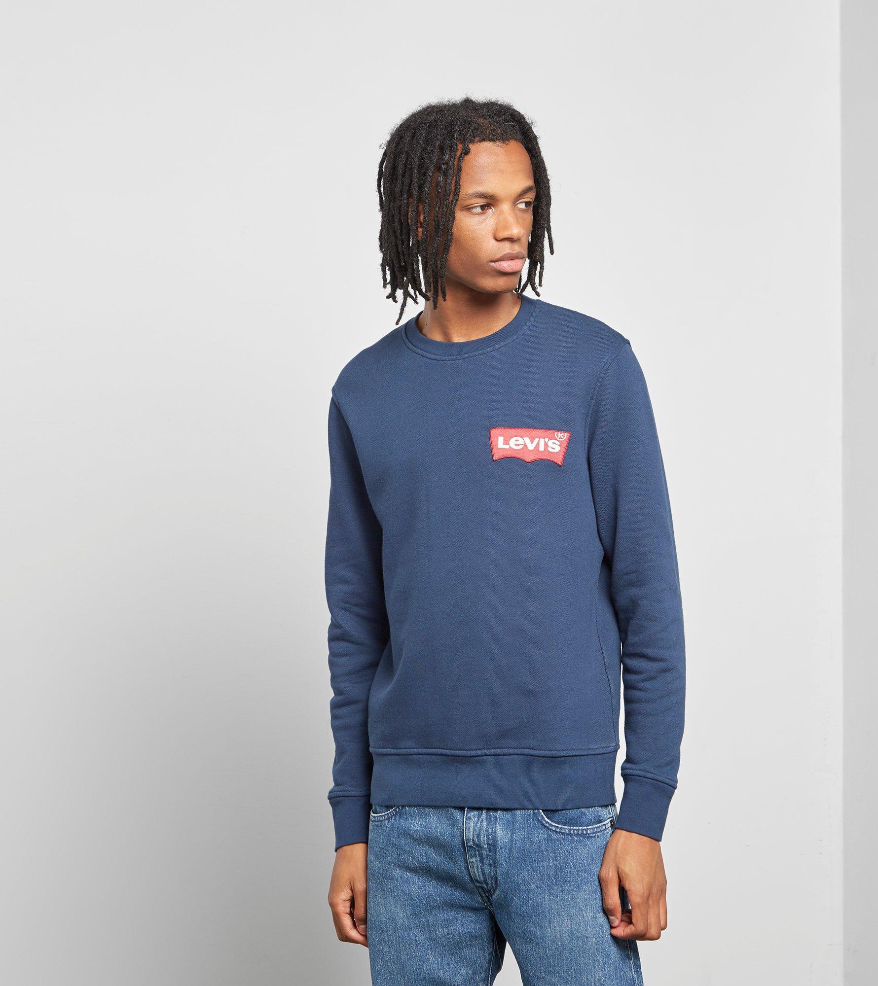 bcceb772e40 Levi S Levis Modern Crewneck Sweatshirt in Blue for Men - Lyst