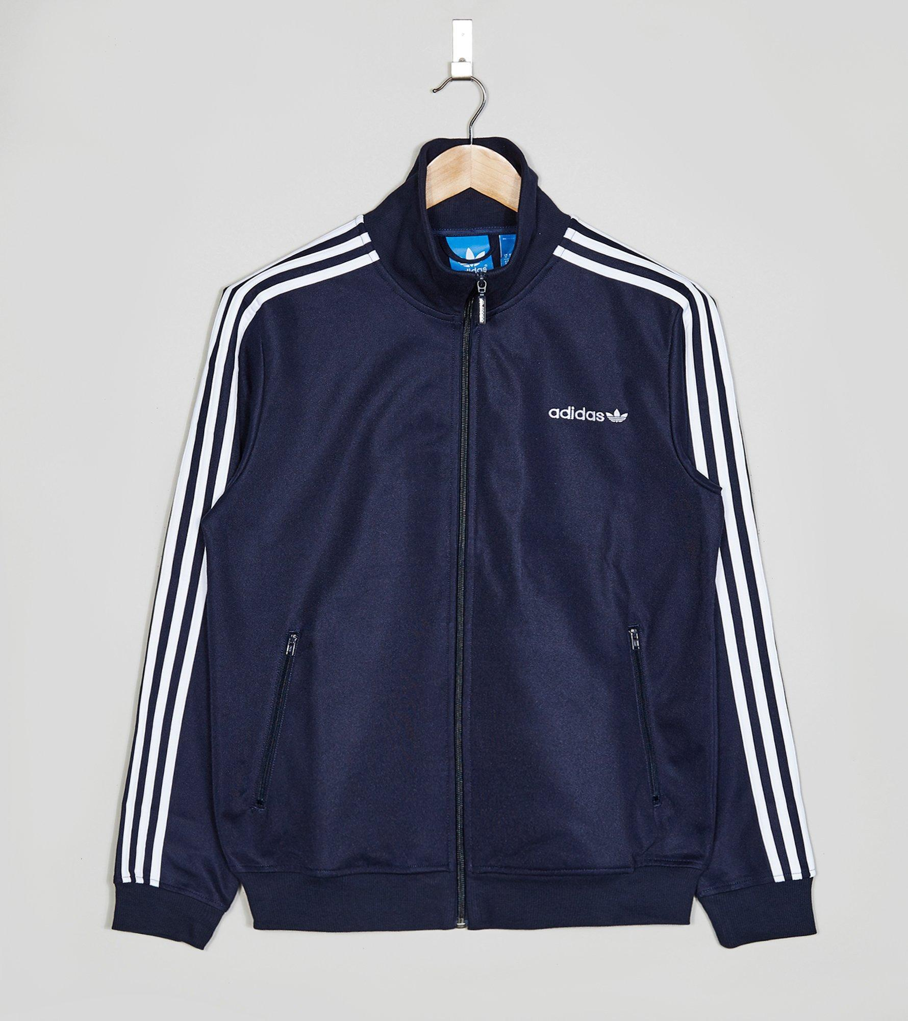 lyst adidas originals beckenbauer track jacket in blue. Black Bedroom Furniture Sets. Home Design Ideas