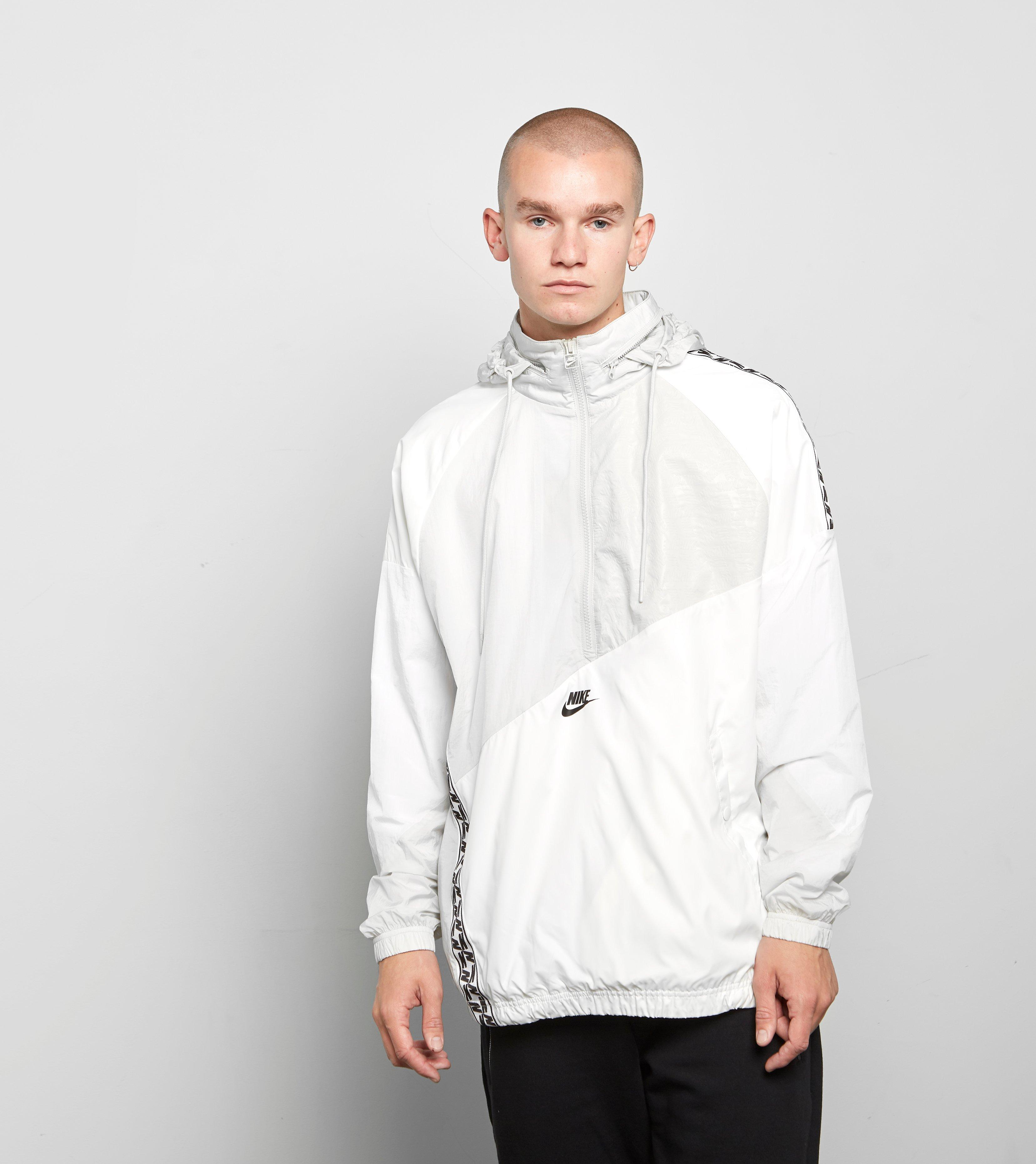 For In Lyst Woven Anorak Taped Nike Men White IpwRwzYq