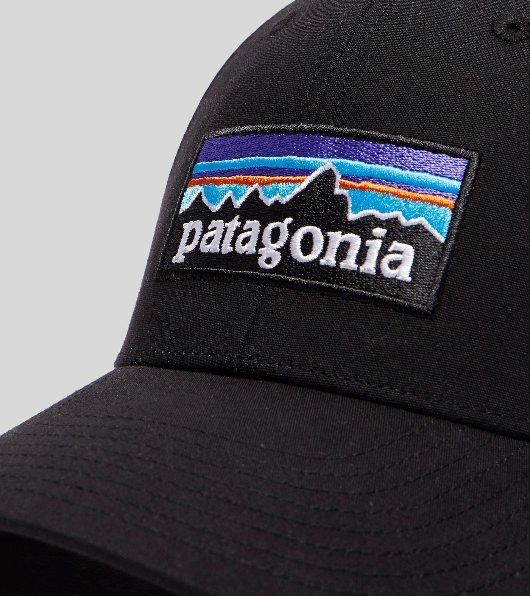 Patagonia P-6 Stretch Fitted Cap in Black - Lyst 6a3d2006ac8e
