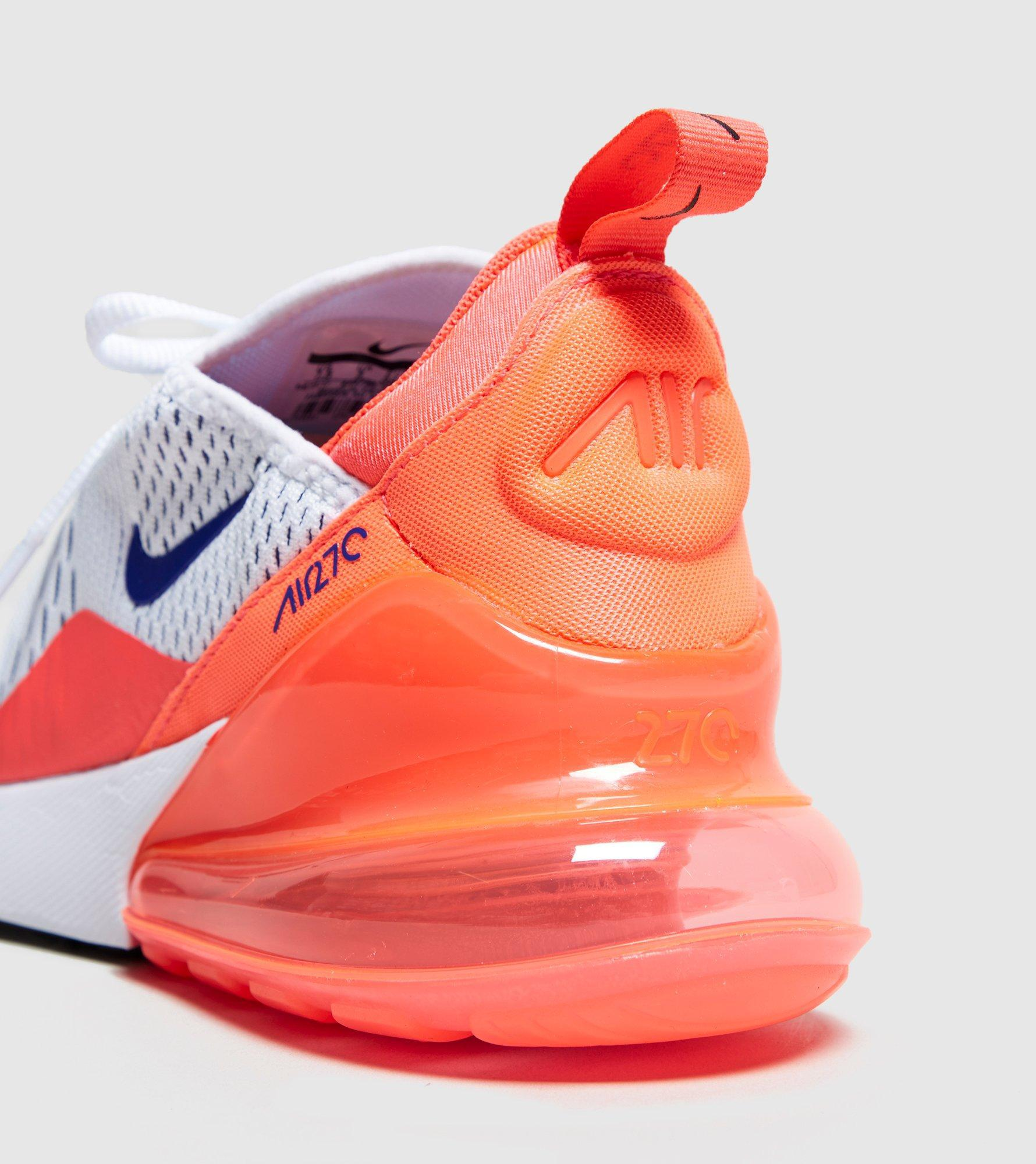 finest selection 94560 890f6 Nike Air Max 270 Womens White Orange