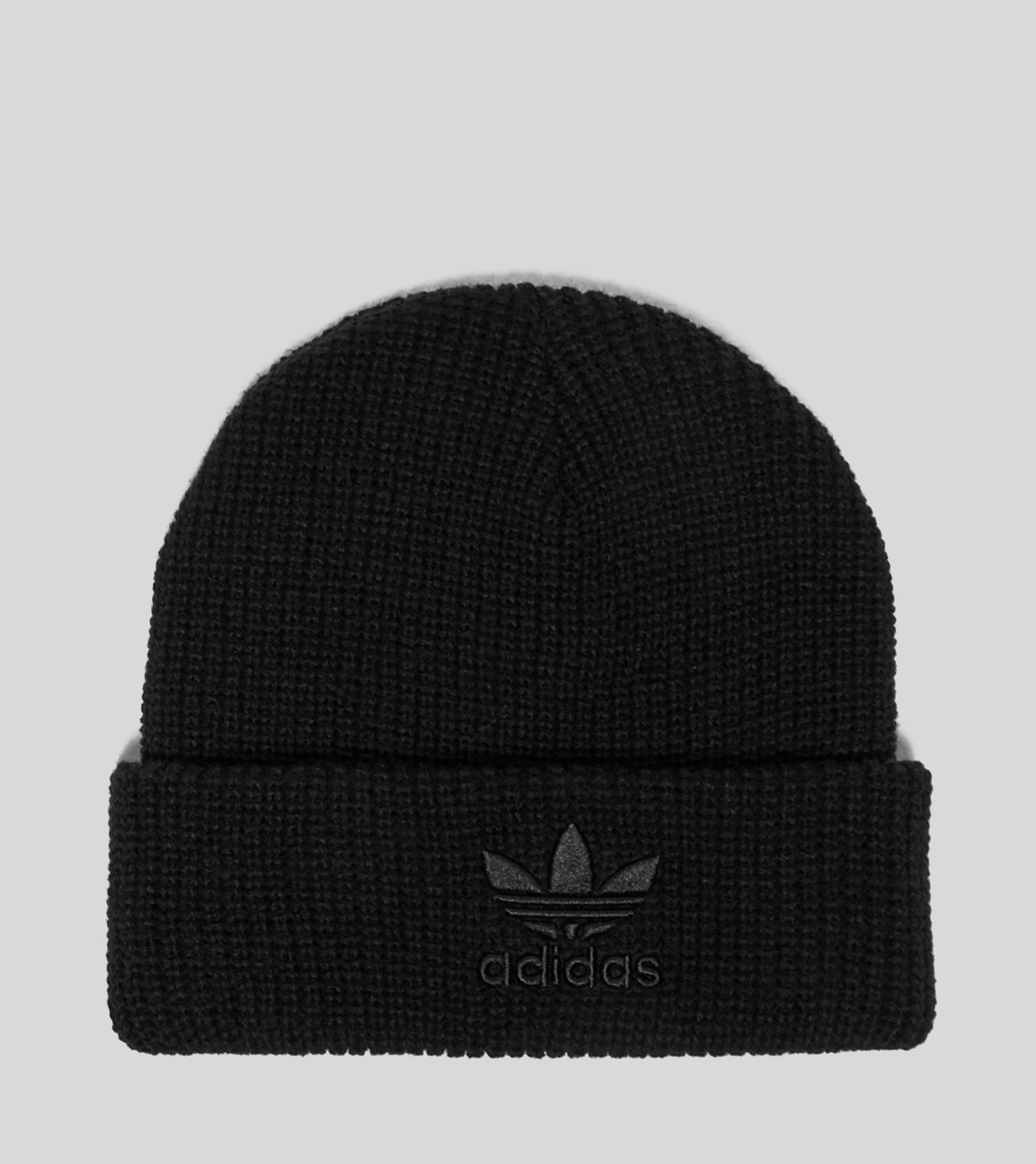 39ccaed13d3ca Lyst - Adidas Originals Tonal Trefoil Beanie in Black for Men